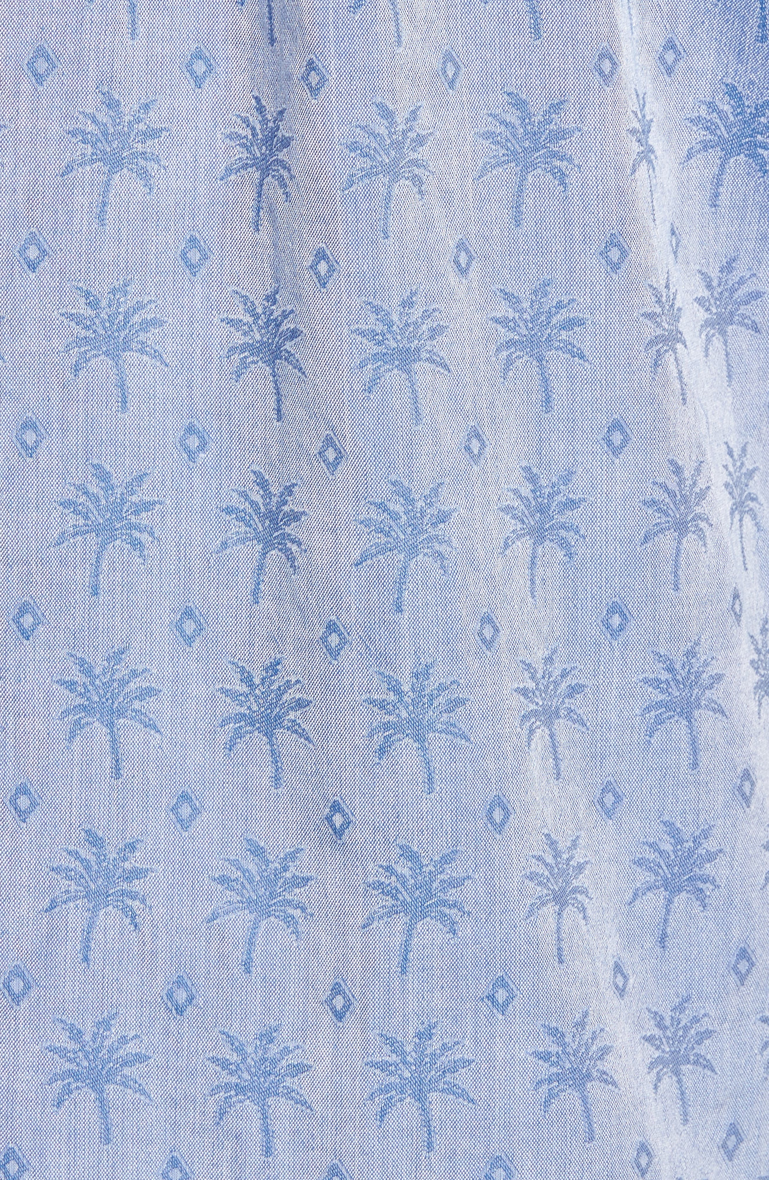 Palm Palm Regular Fit Jacquard Sport Shirt,                             Alternate thumbnail 5, color,                             400