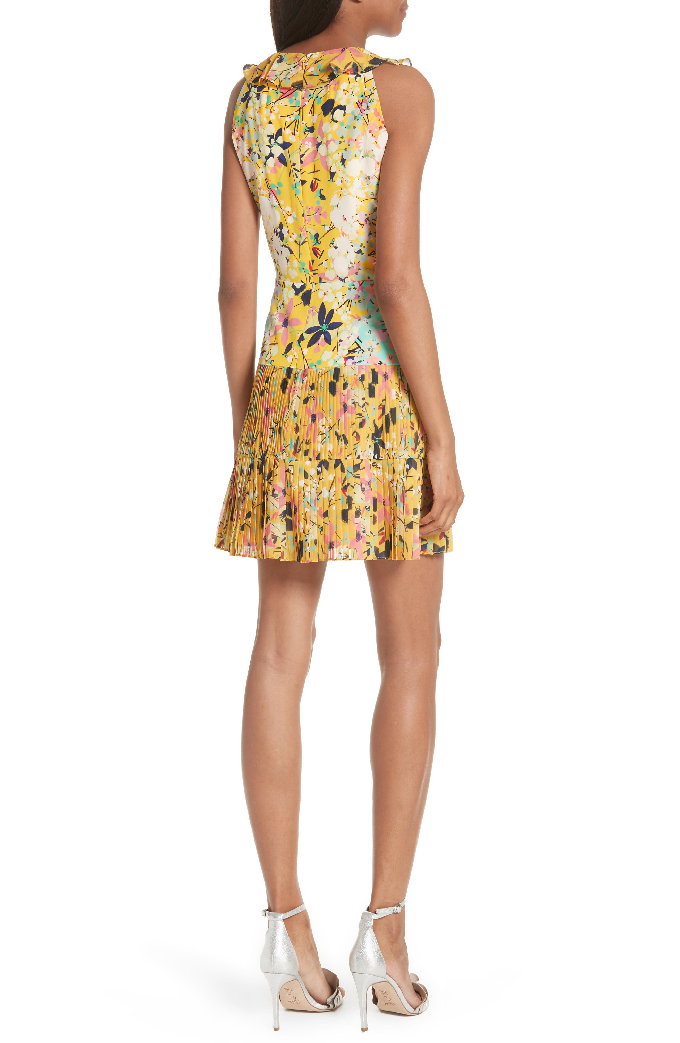 Amy Fit & Flare Dress,                             Alternate thumbnail 4, color,