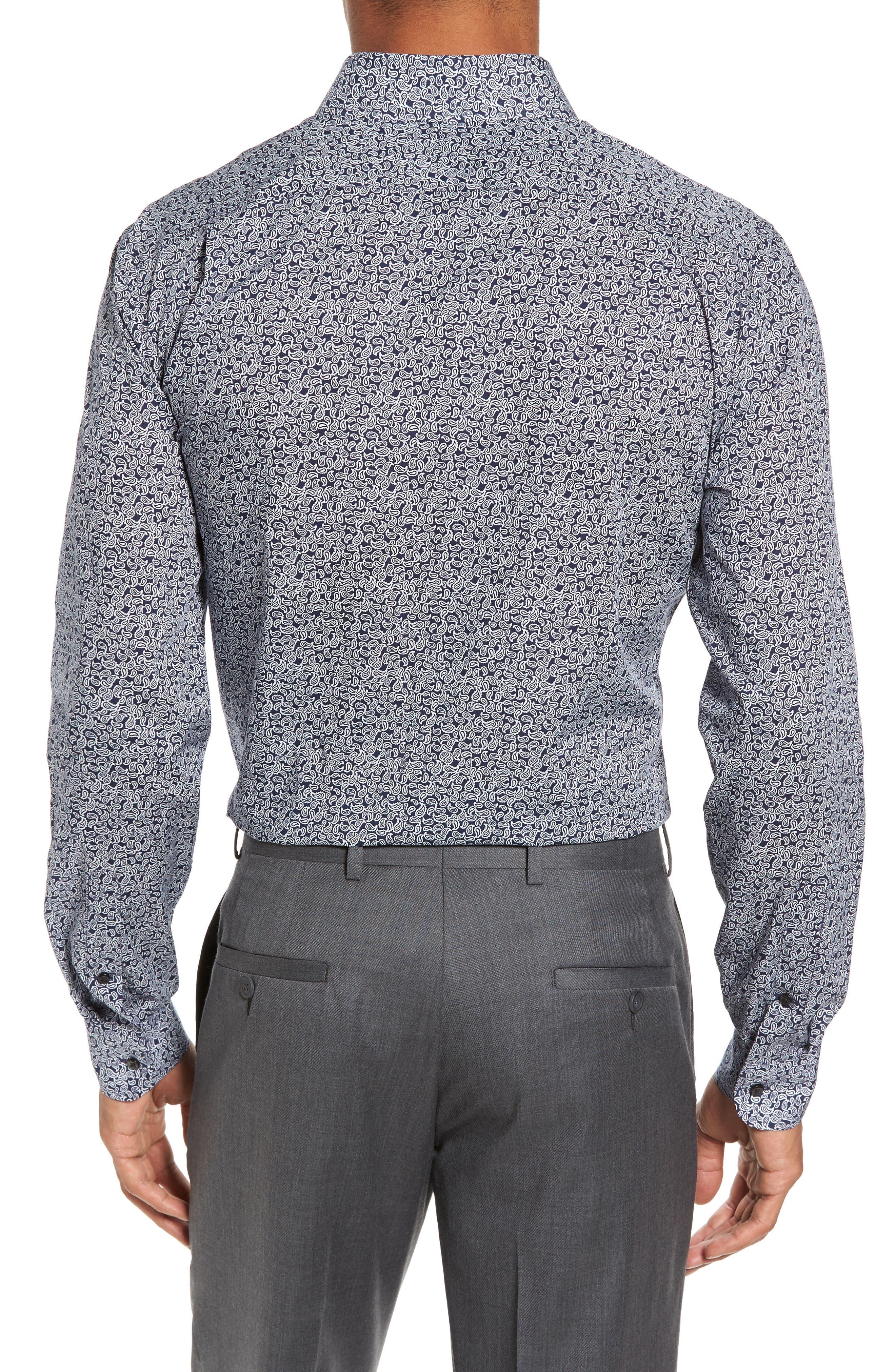 Trim Fit Paisley Dress Shirt,                             Alternate thumbnail 2, color,                             410