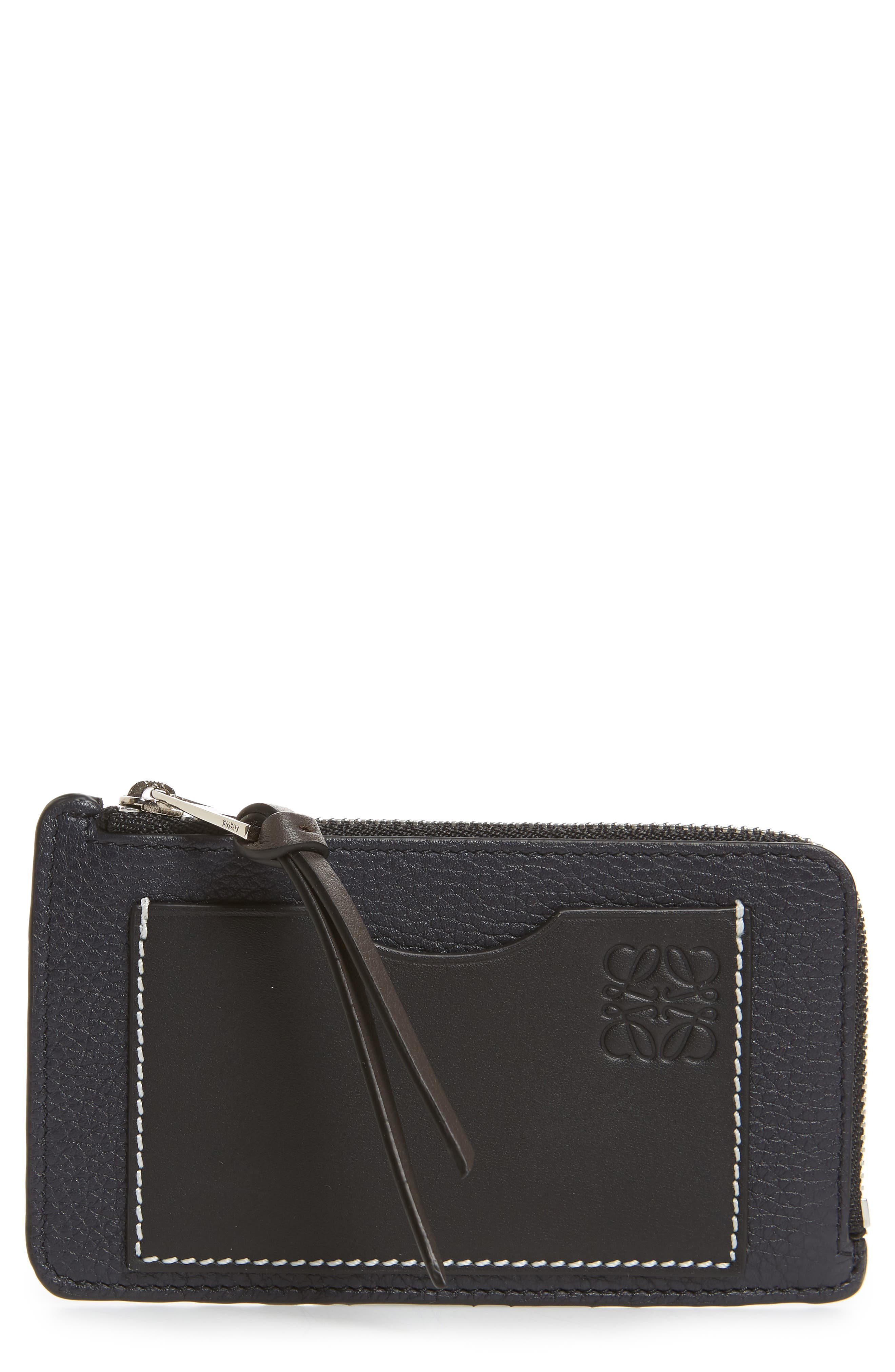 Leather Card & Coin Case,                         Main,                         color, 405