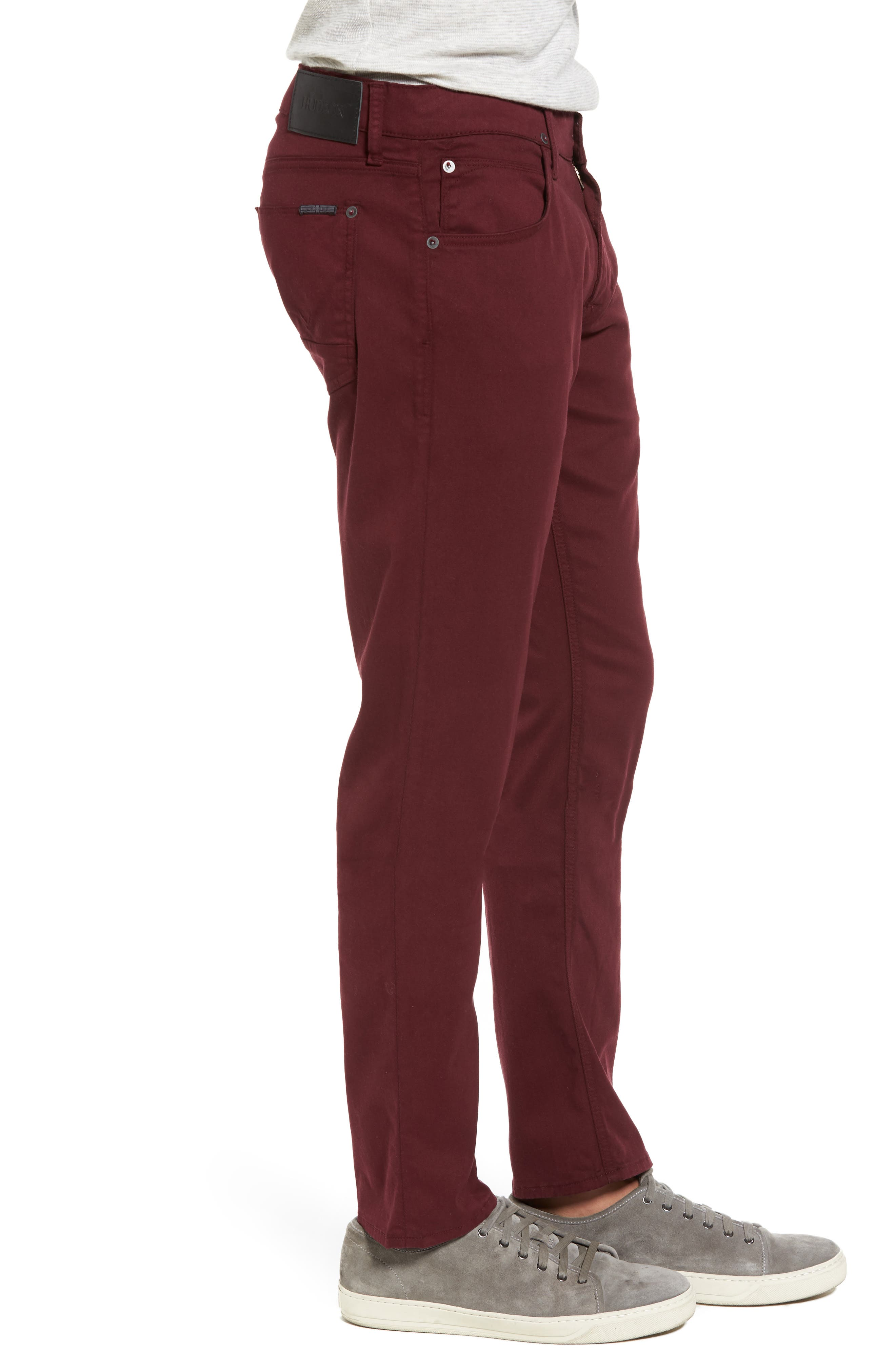 Blake Slim Fit Jeans,                             Alternate thumbnail 3, color,                             BURGUNDY