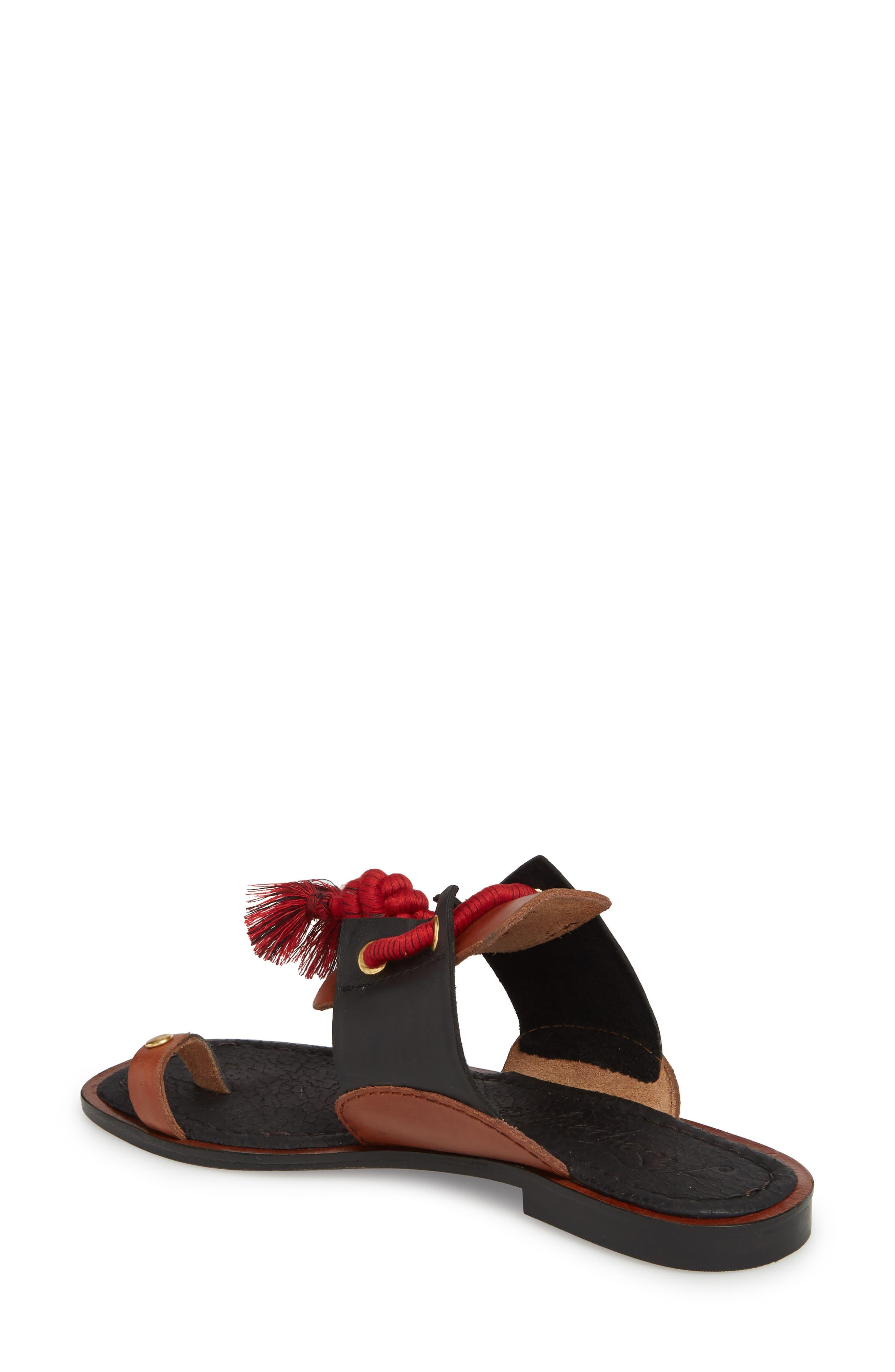 Maui Tasseled Slide Sandal,                             Alternate thumbnail 2, color,                             001