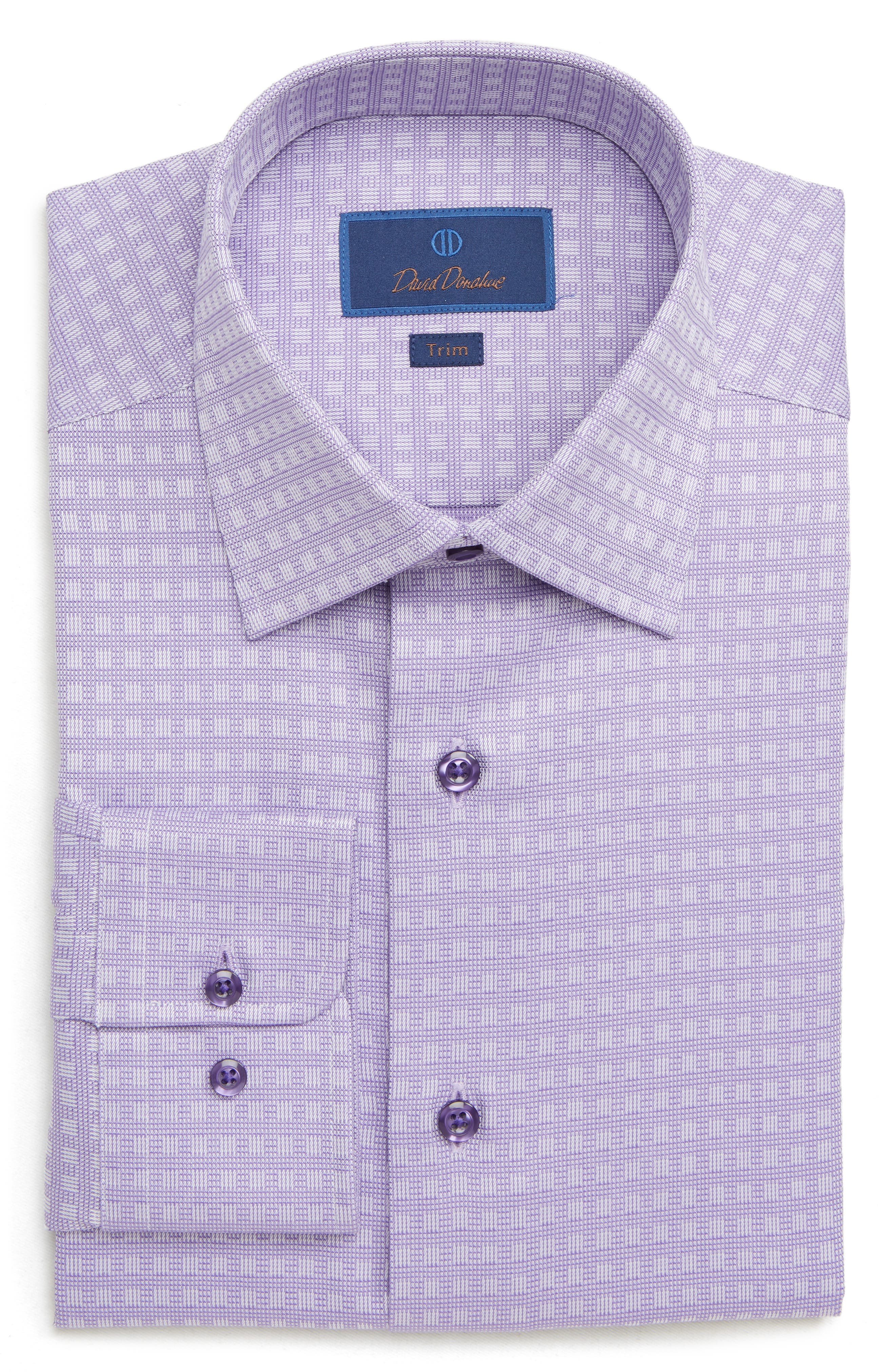 Trim Fit Check Dress Shirt,                         Main,                         color, 534