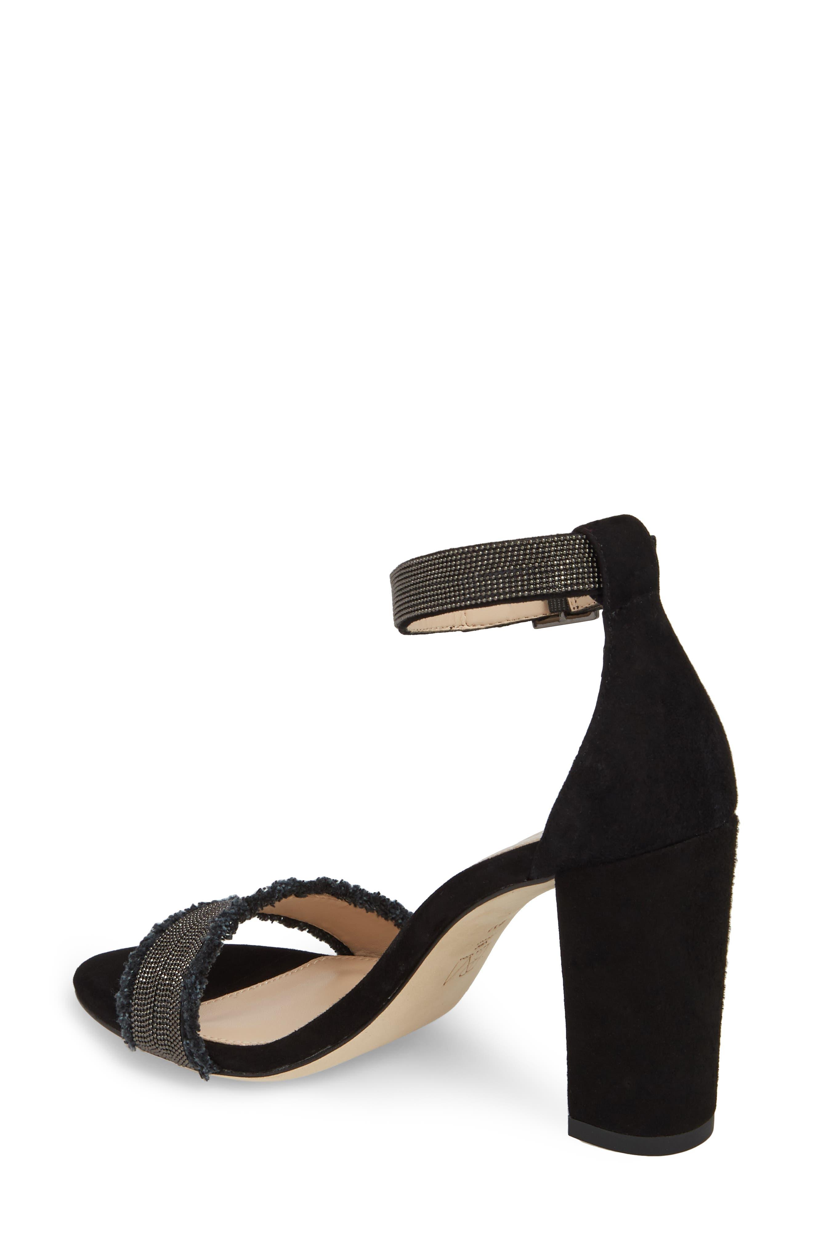PELLE MODA,                             Bonnie6 Embellished Sandal,                             Alternate thumbnail 2, color,                             BLACK SUEDE