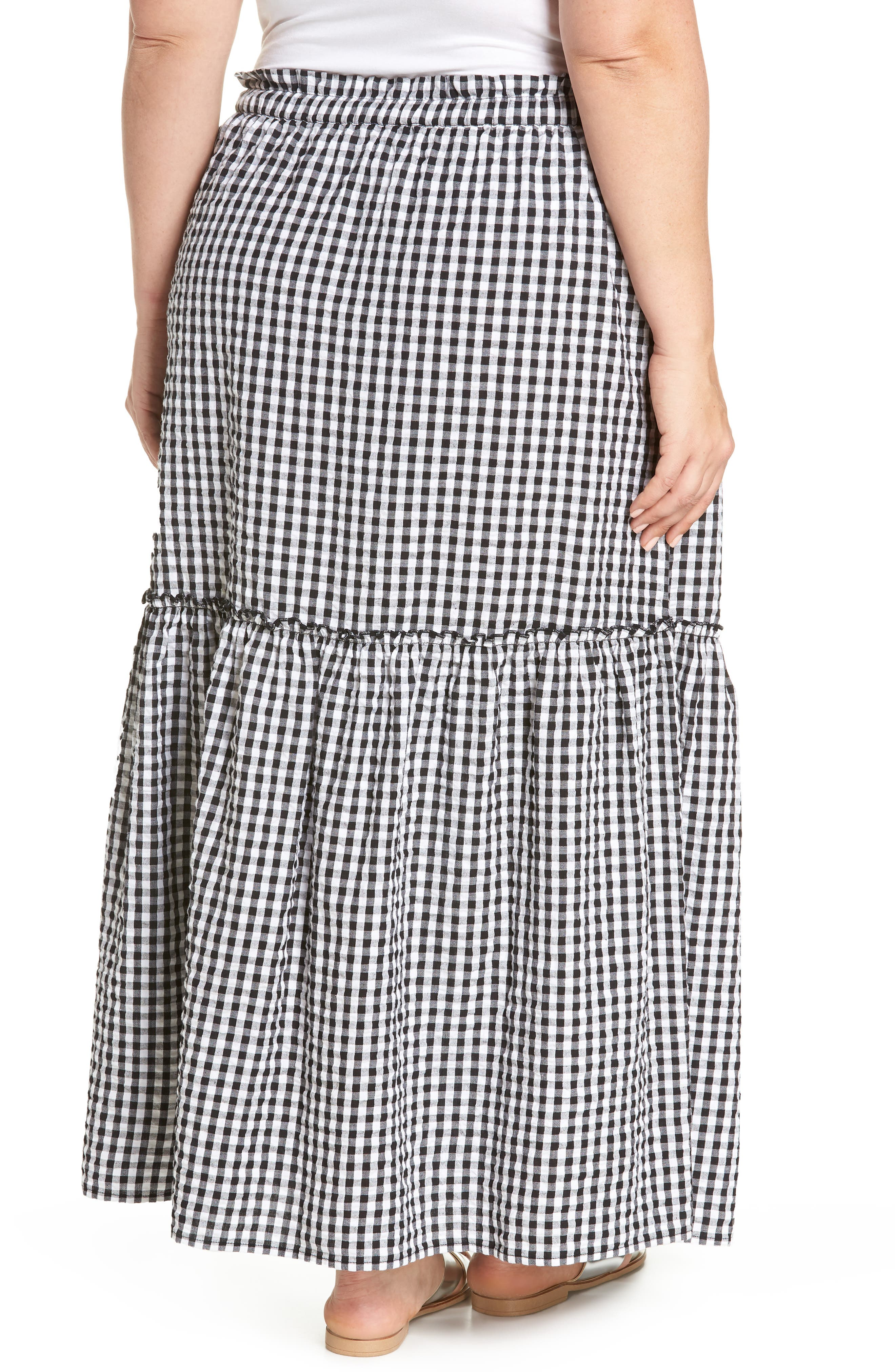 Ruffle Hem Maxi Skirt,                             Alternate thumbnail 2, color,                             001
