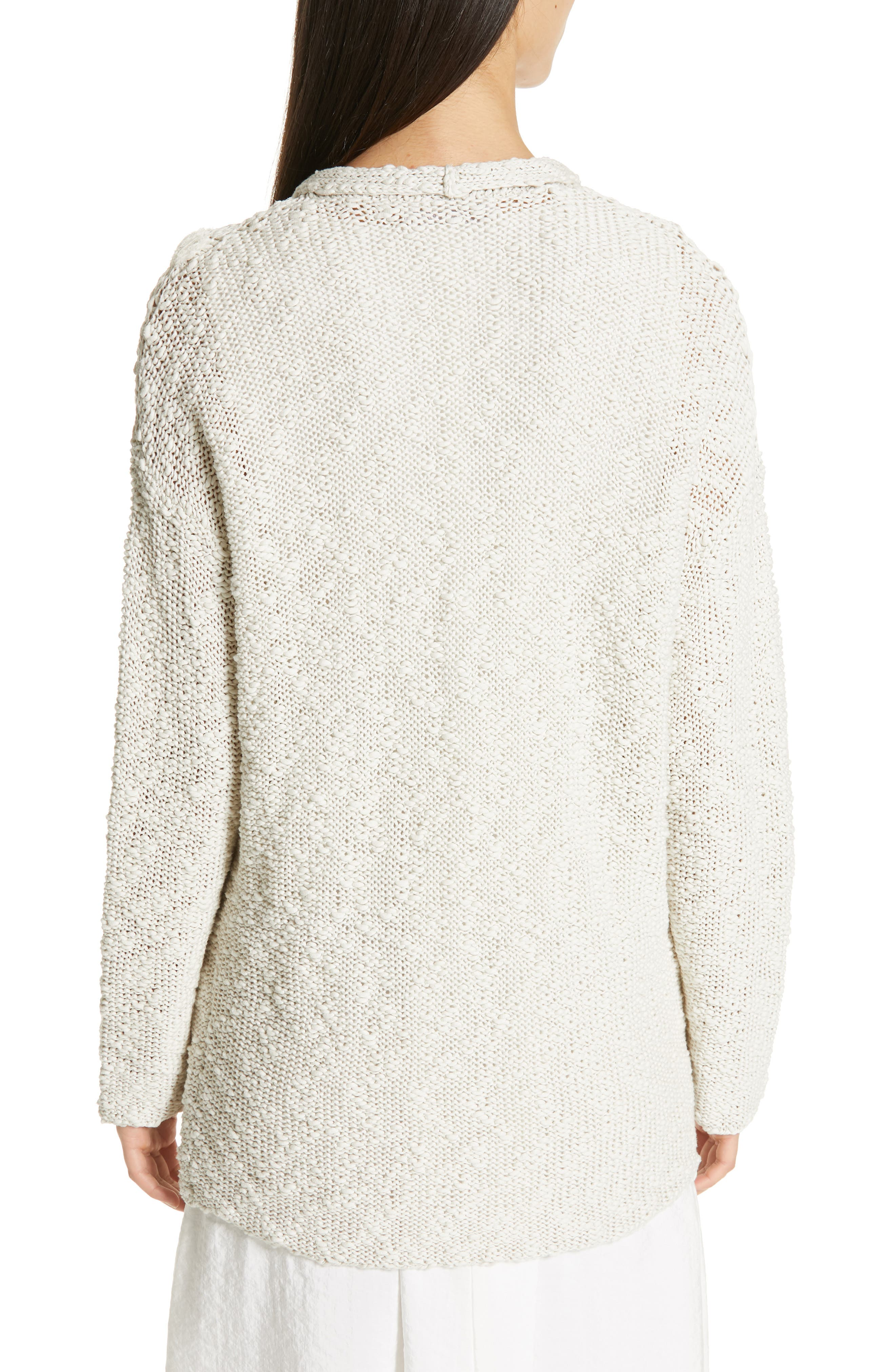 Embroidered Long Cardigan,                             Alternate thumbnail 2, color,                             BEIGE