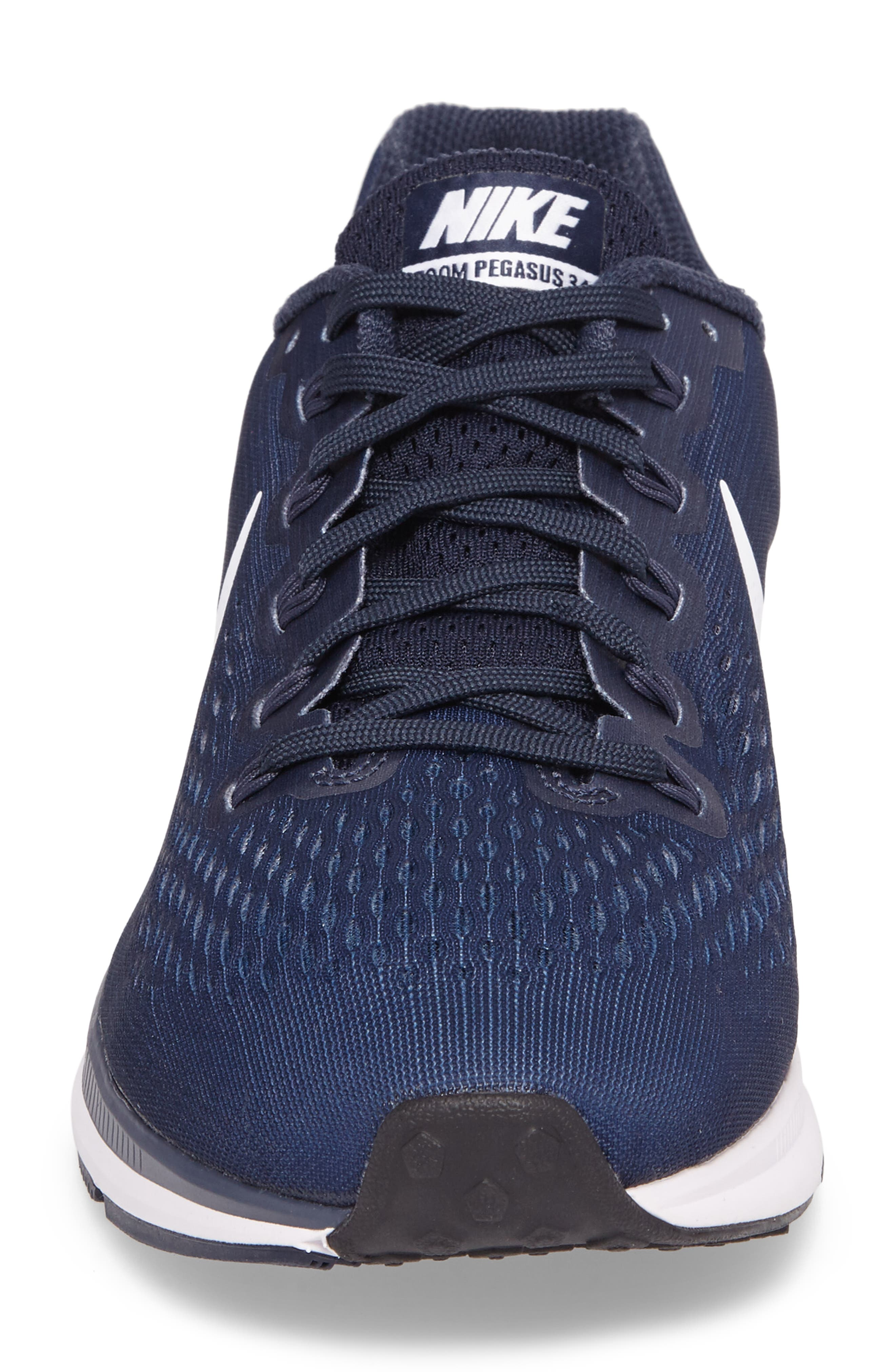 Air Zoom Pegasus 34 Sneaker,                             Alternate thumbnail 4, color,                             002