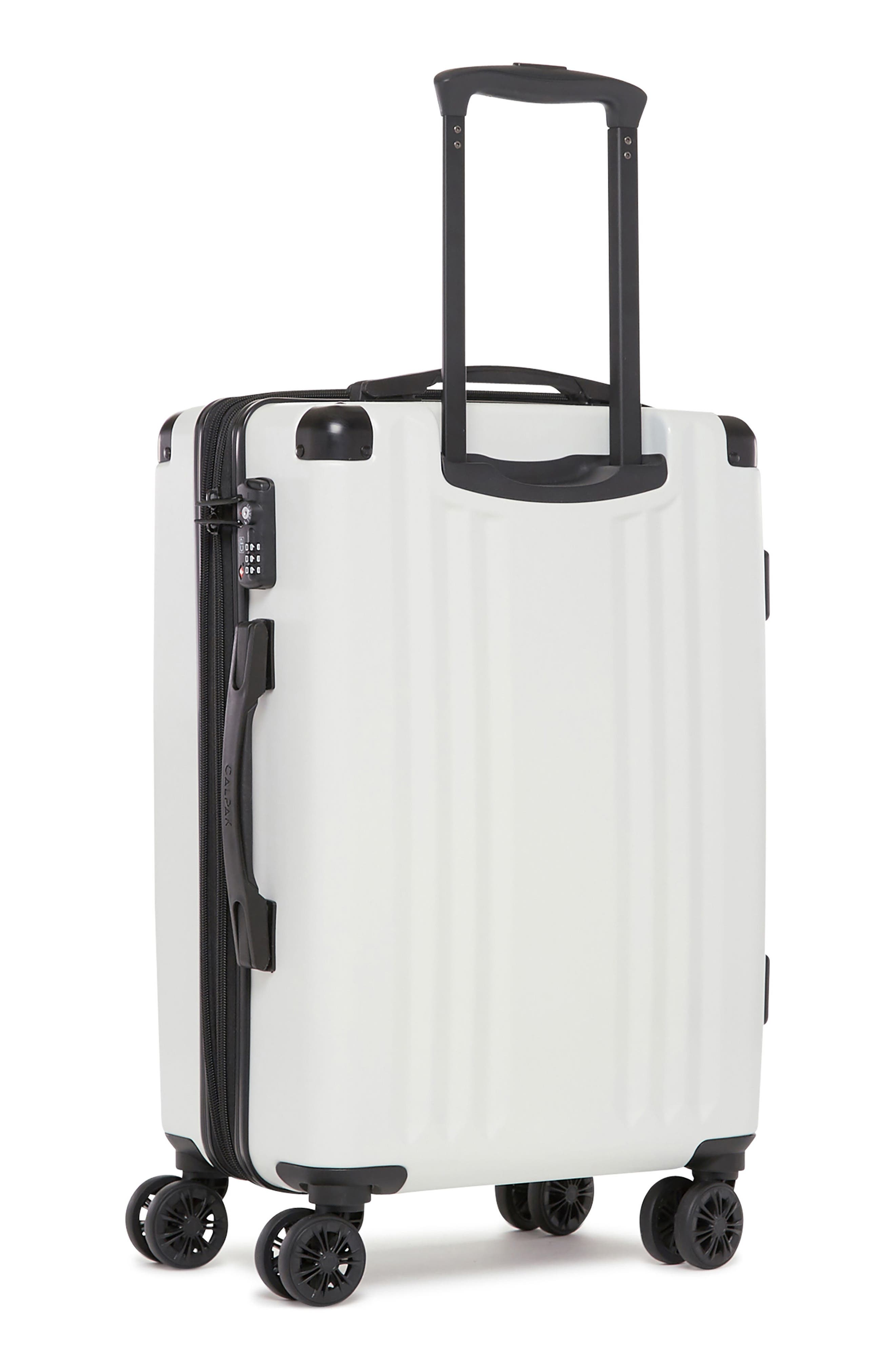 Ambeur 20-Inch Rolling Spinner Carry-On,                             Alternate thumbnail 4, color,                             WHITE
