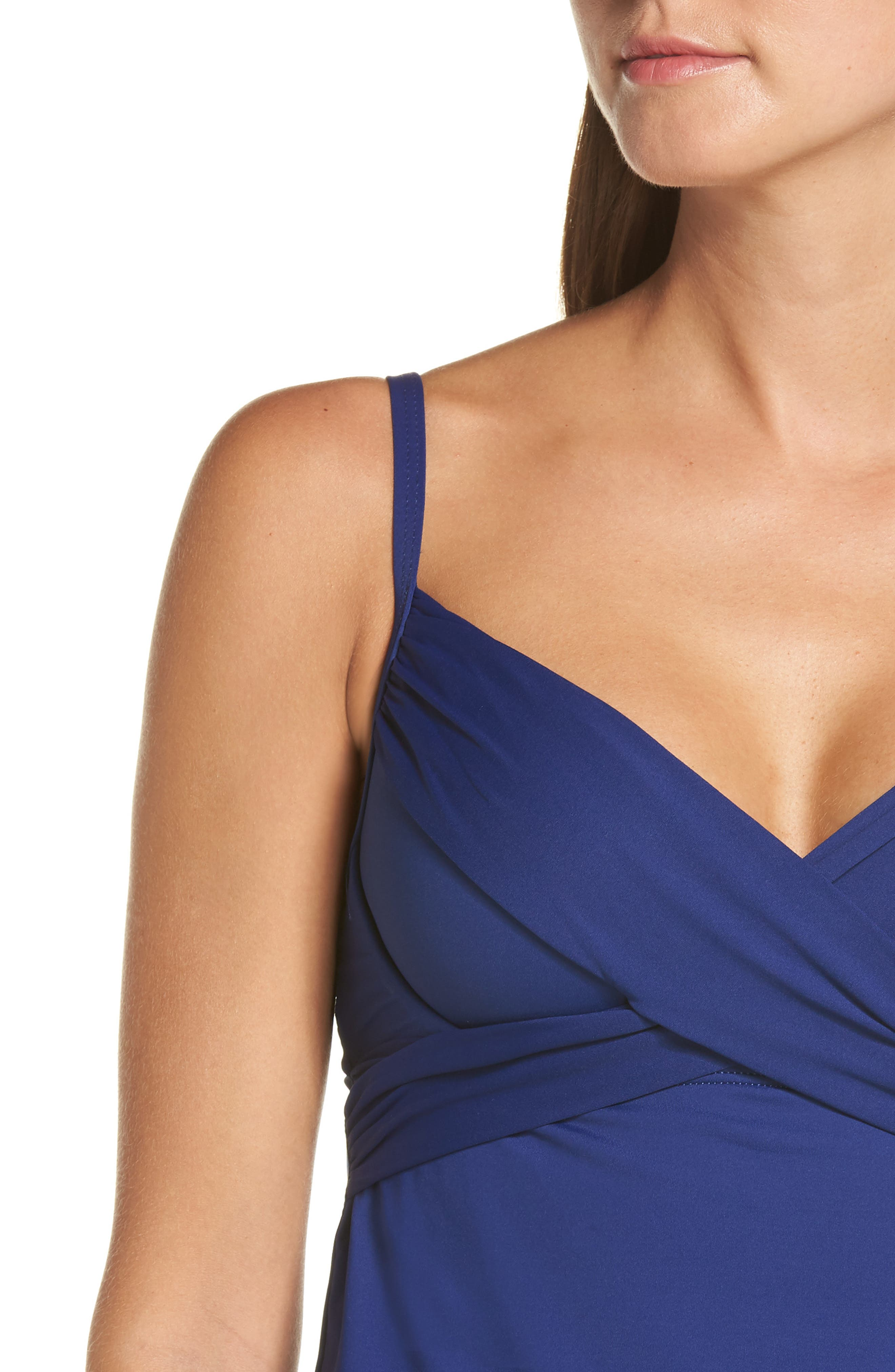 Island Goddess Underwire Tankini Top,                             Alternate thumbnail 4, color,                             409