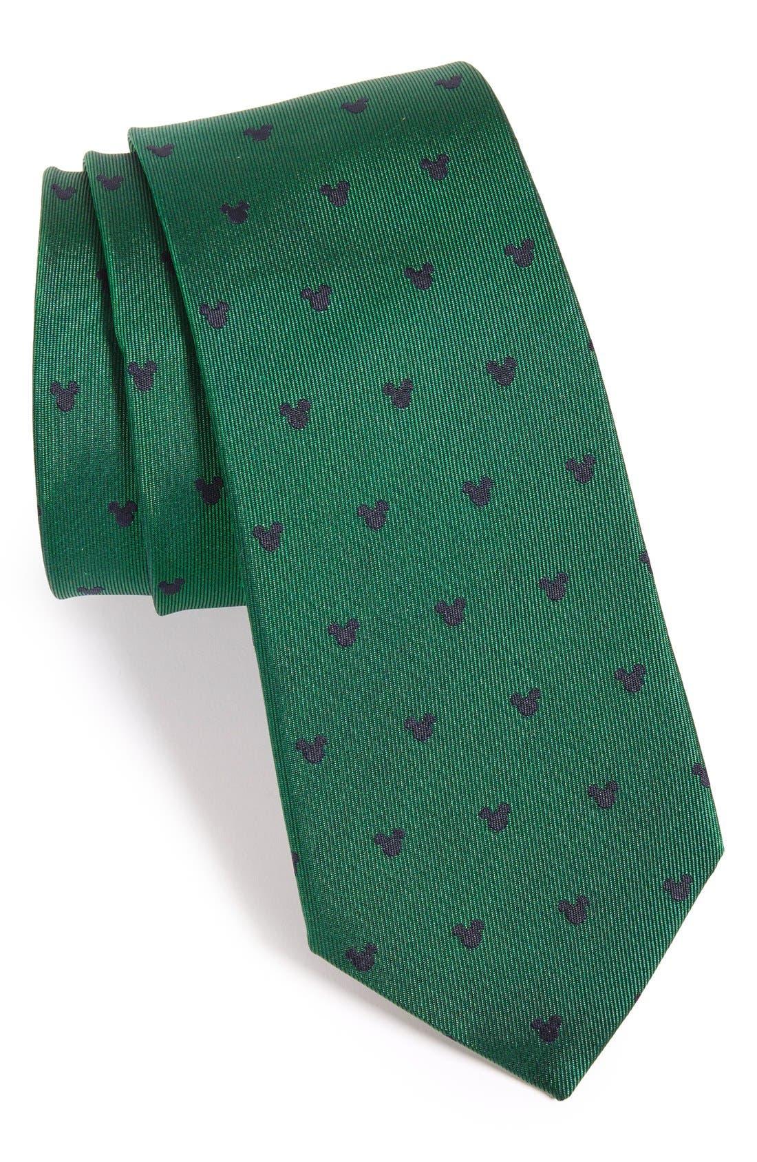 'Disney - Mickey Mouse' Silk Tie,                         Main,                         color,