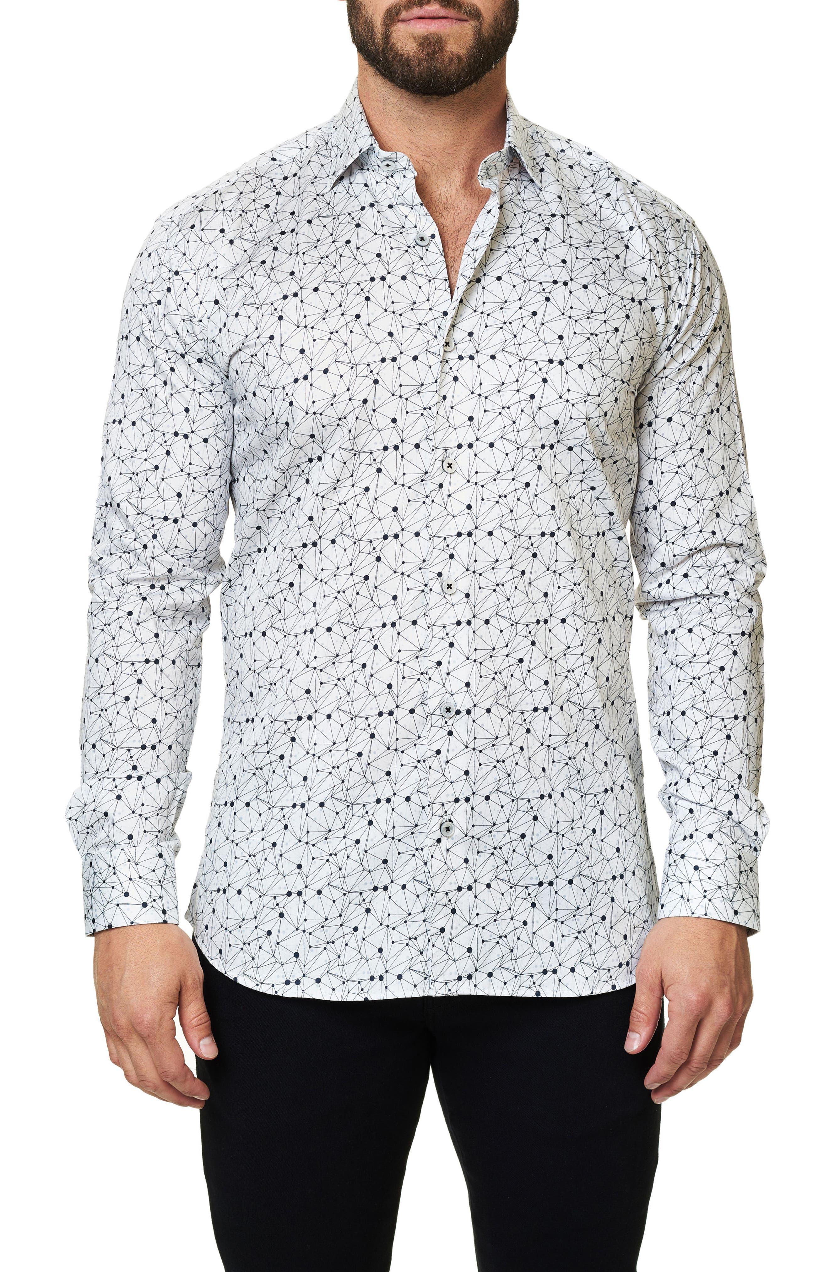 Trim Fit Print Sport Shirt,                         Main,                         color, 110