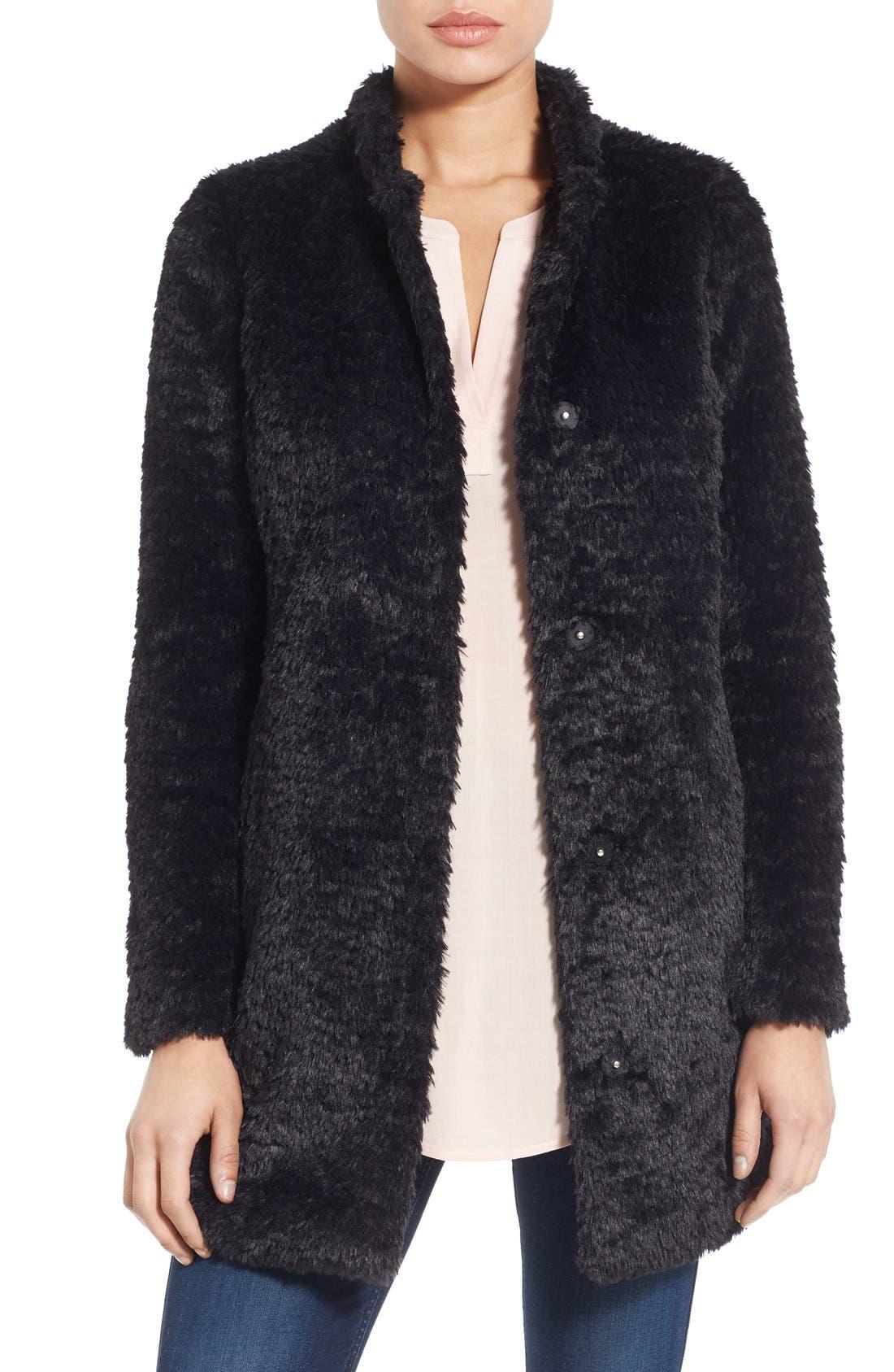 Faux Fur Jacket,                             Main thumbnail 5, color,
