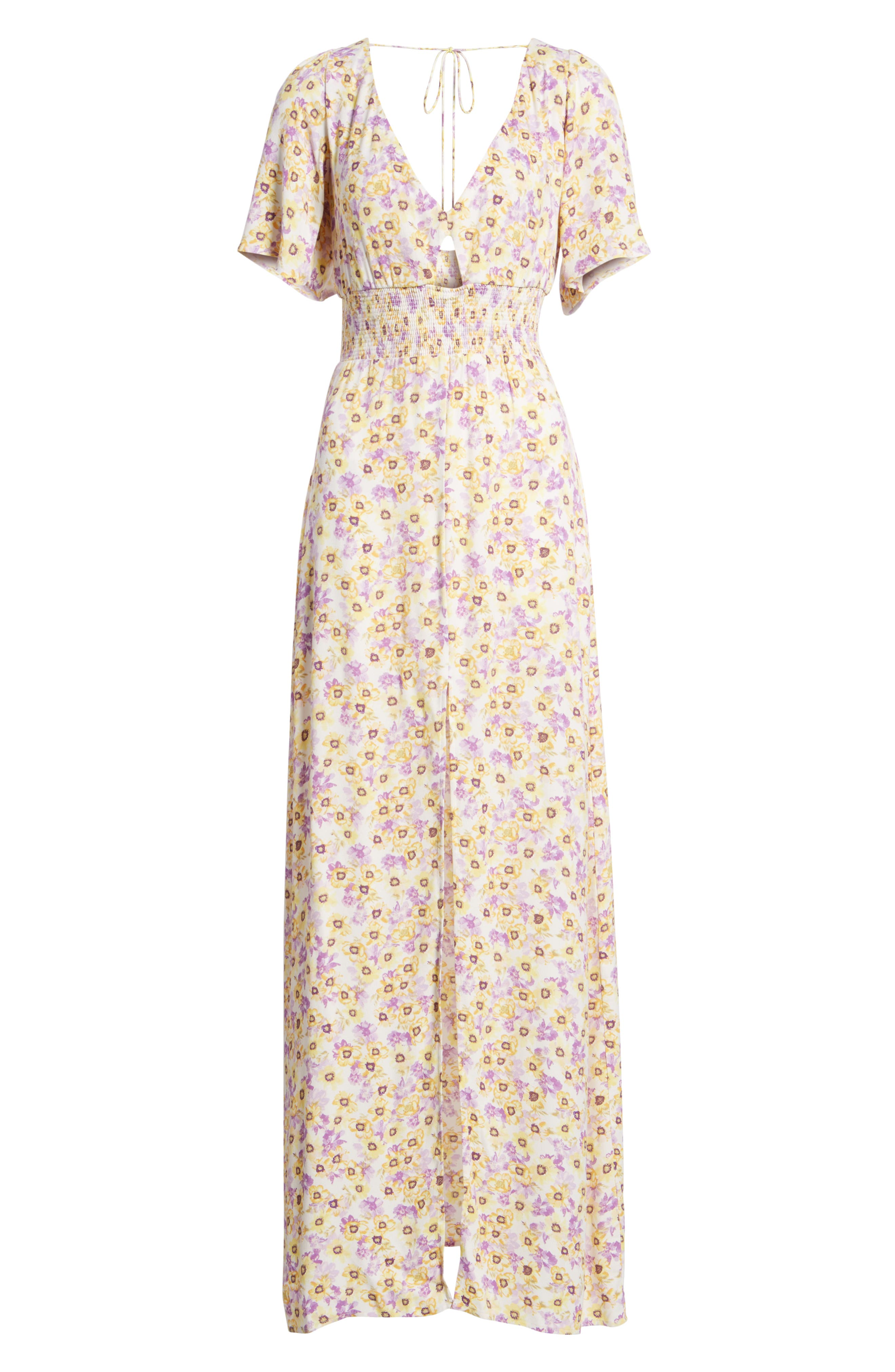 Tuscany Maxi Dress,                             Alternate thumbnail 7, color,                             YELLOW GARDEN