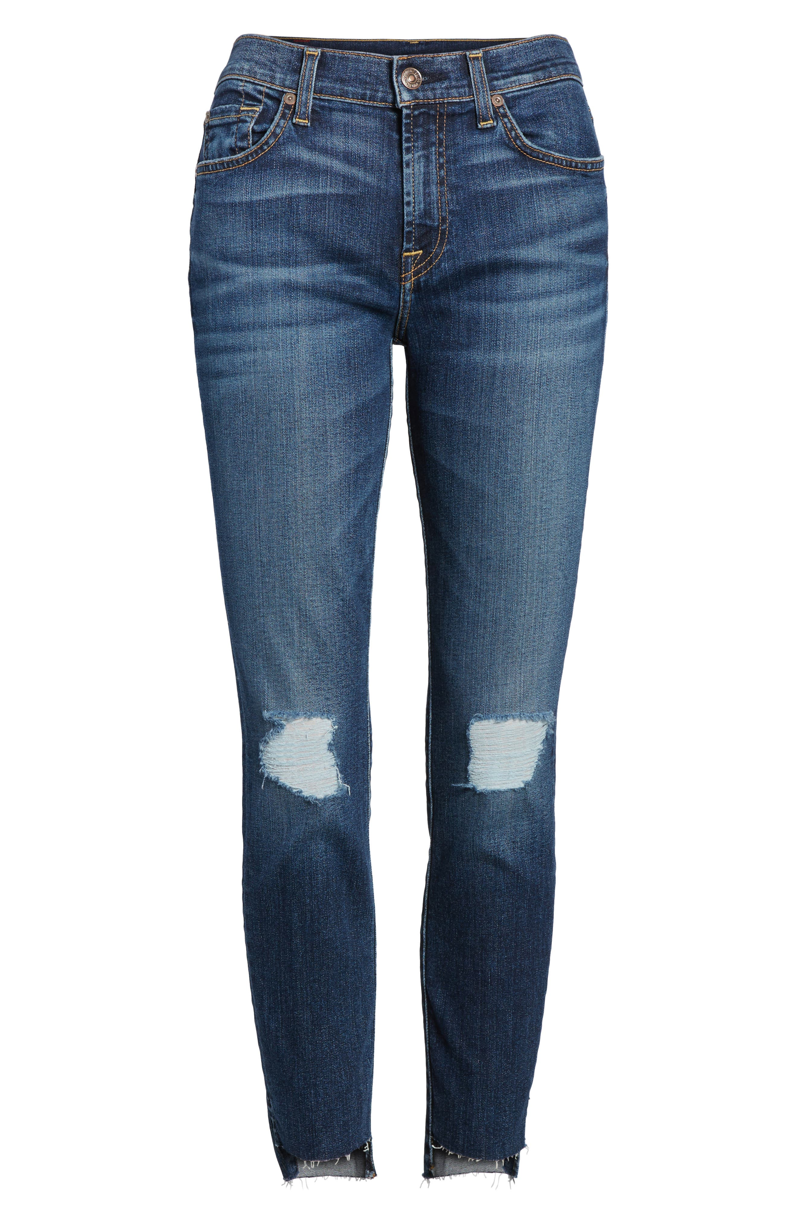 The Ankle Skinny Ripped Step Hem Jeans,                             Alternate thumbnail 6, color,