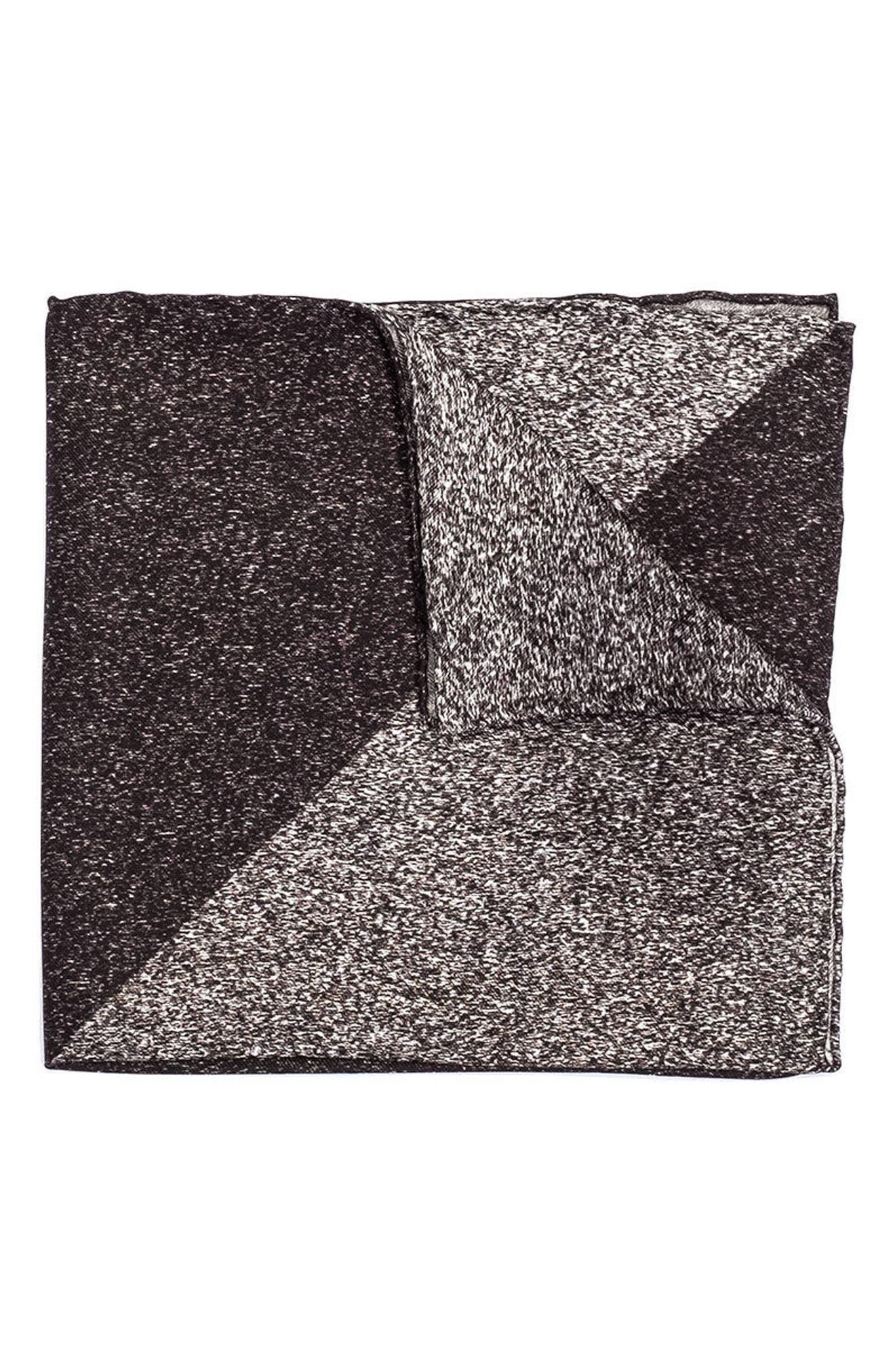 Geometric Silk Pocket Square,                         Main,                         color, 020