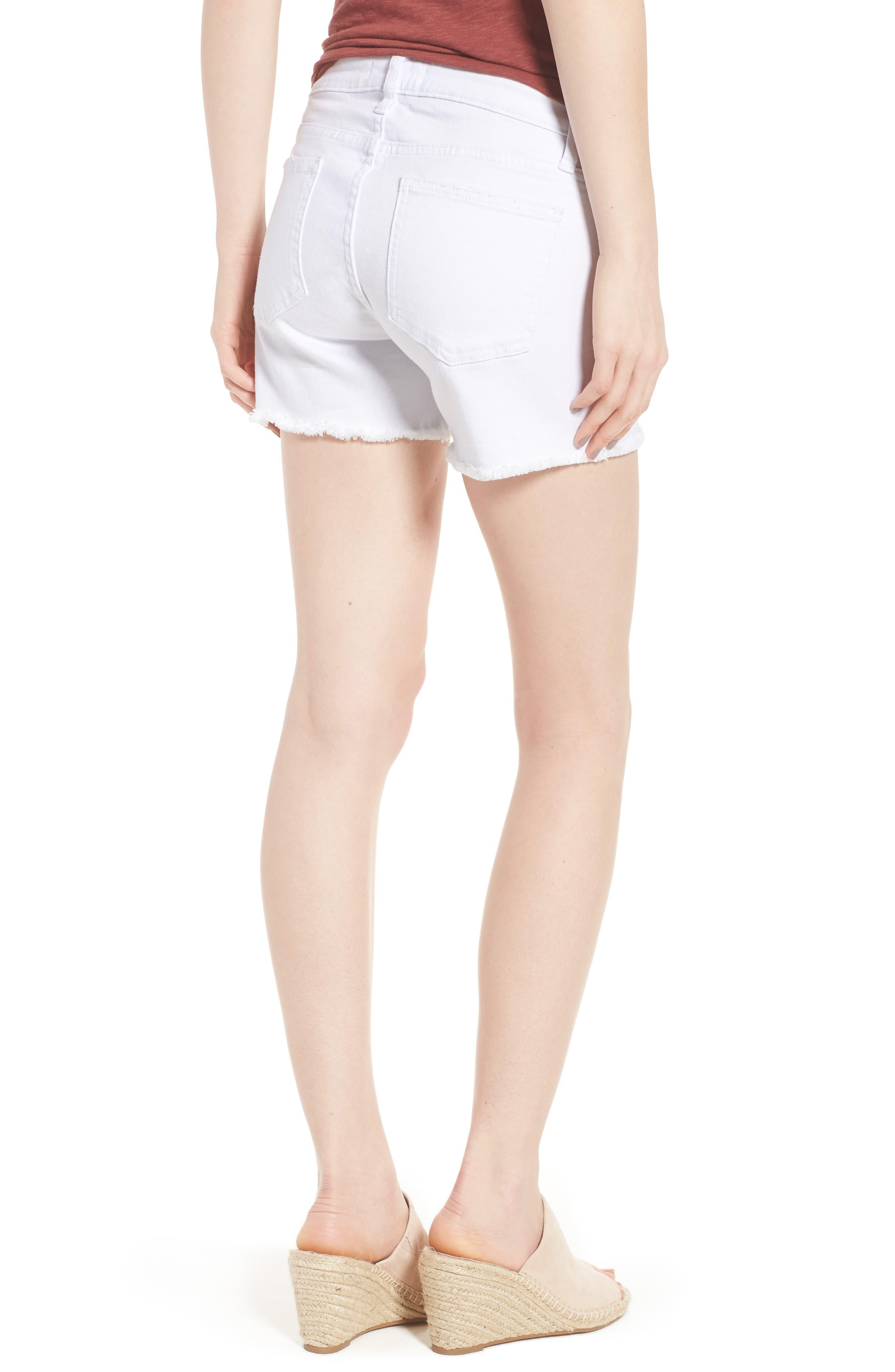 Embroidered Denim Shorts,                             Alternate thumbnail 2, color,                             100