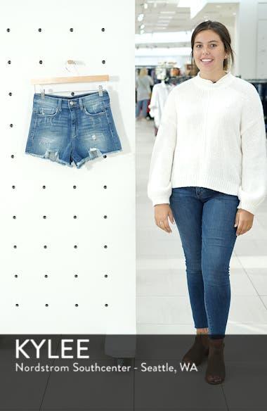 High Waist Frayed Hem Shorts, sales video thumbnail
