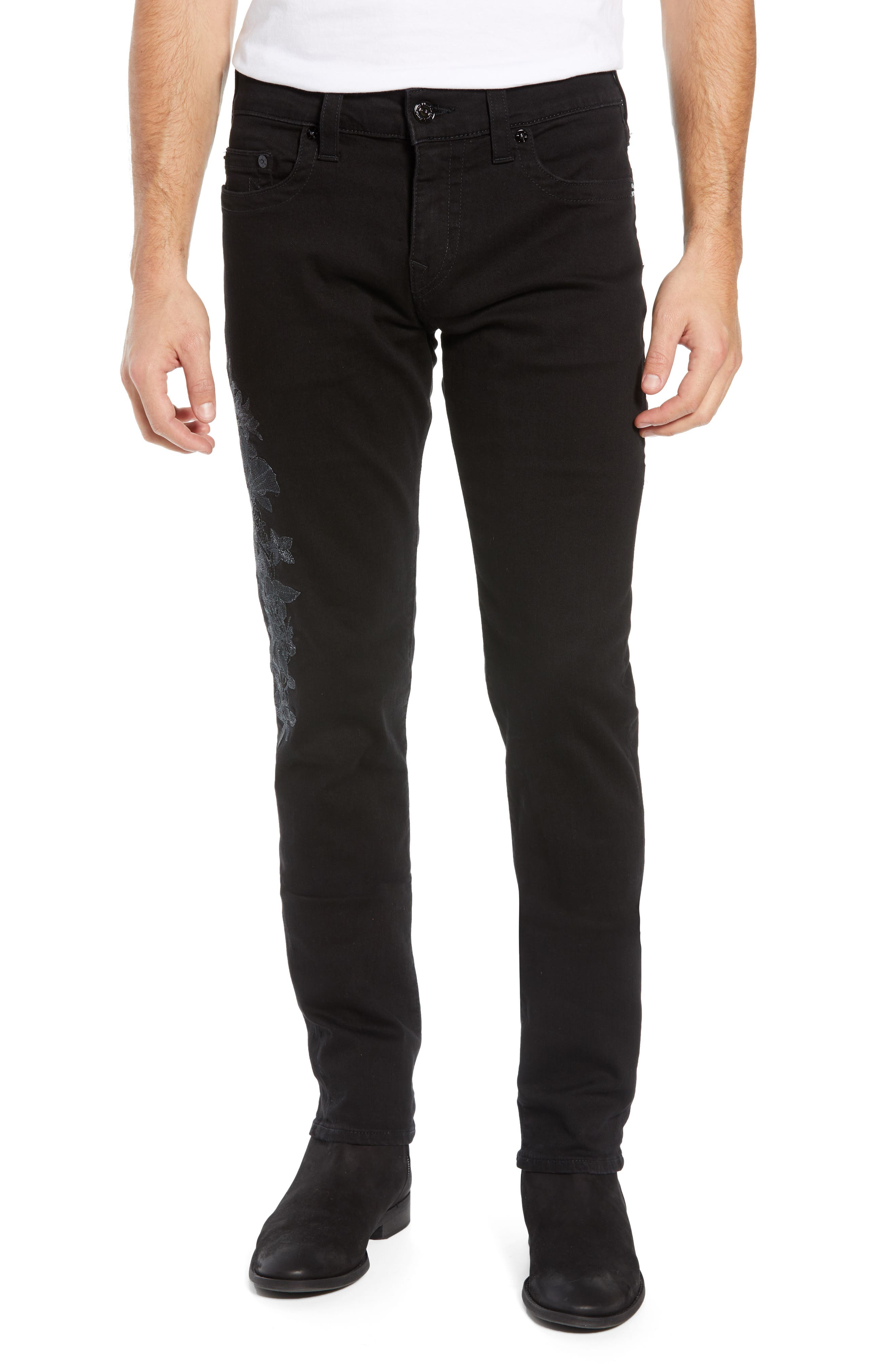 TRUE RELIGION BRAND JEANS Rocco Skinny Fit Jeans, Main, color, FPCB MAGNETIC FIELD