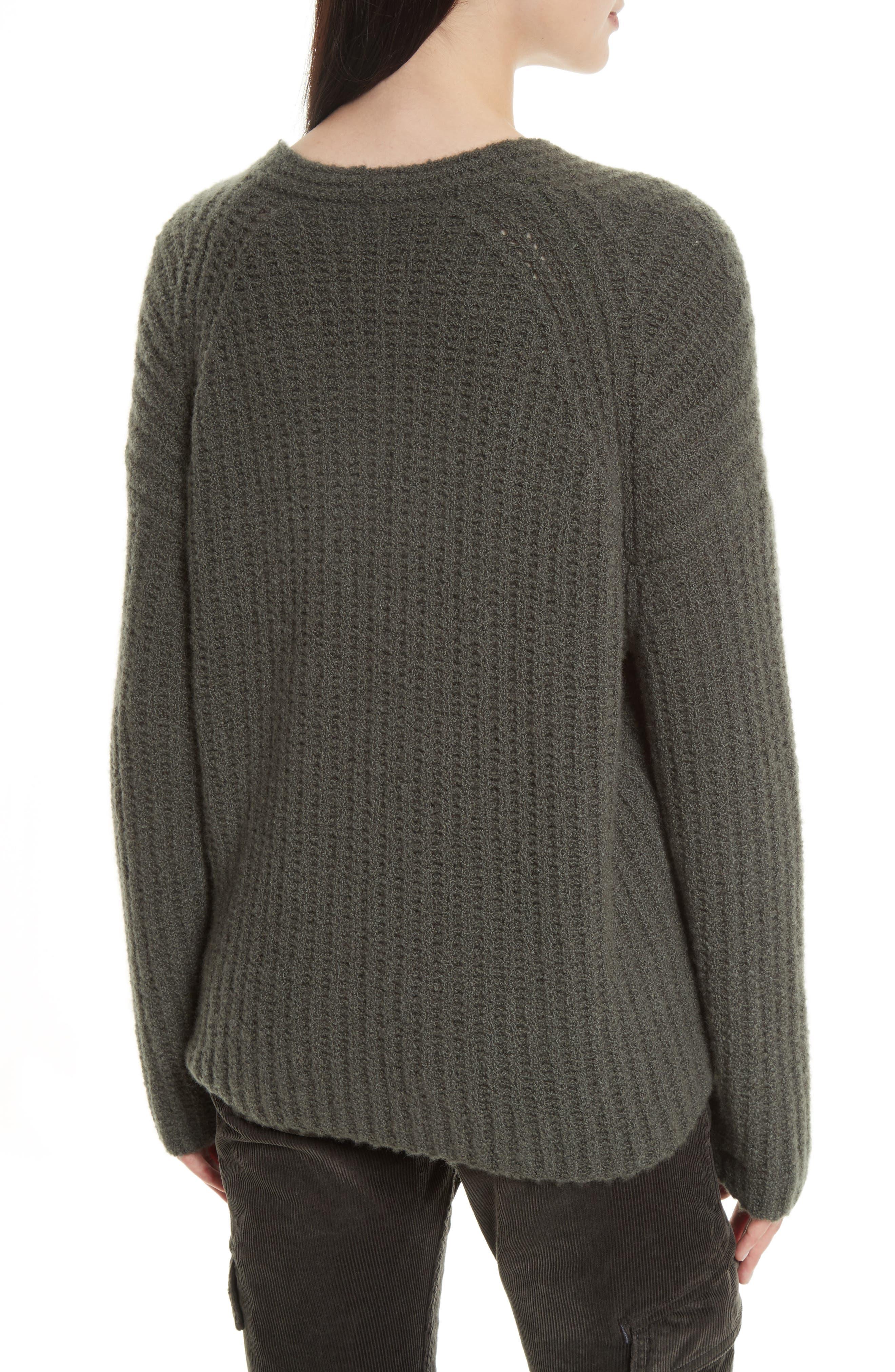 Deep V-Neck Cashmere Blend Sweater,                             Alternate thumbnail 5, color,