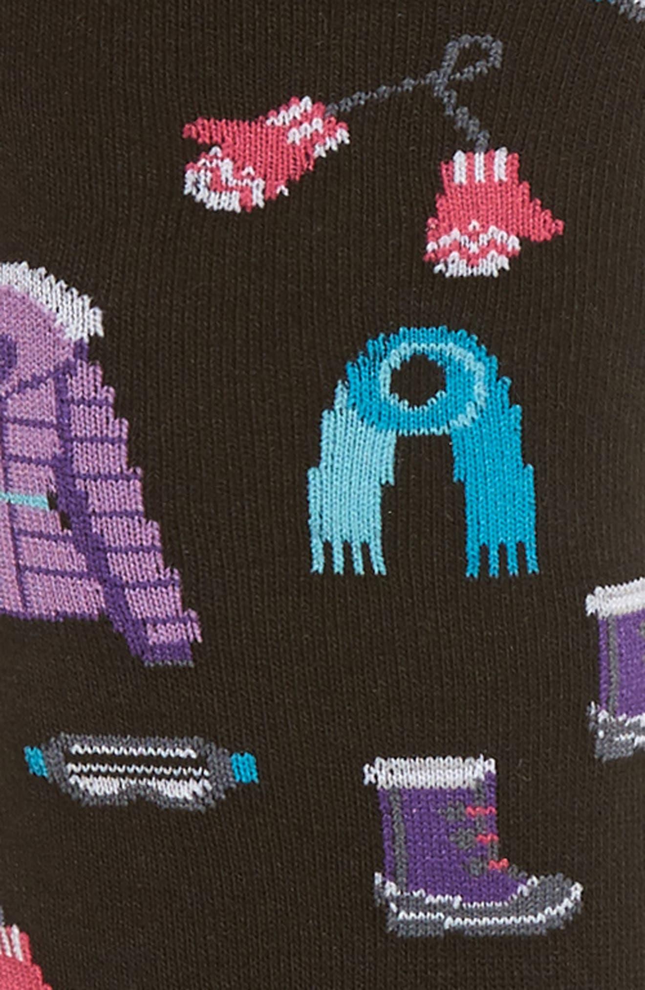Ski Clothes Crew Socks,                             Alternate thumbnail 2, color,                             001