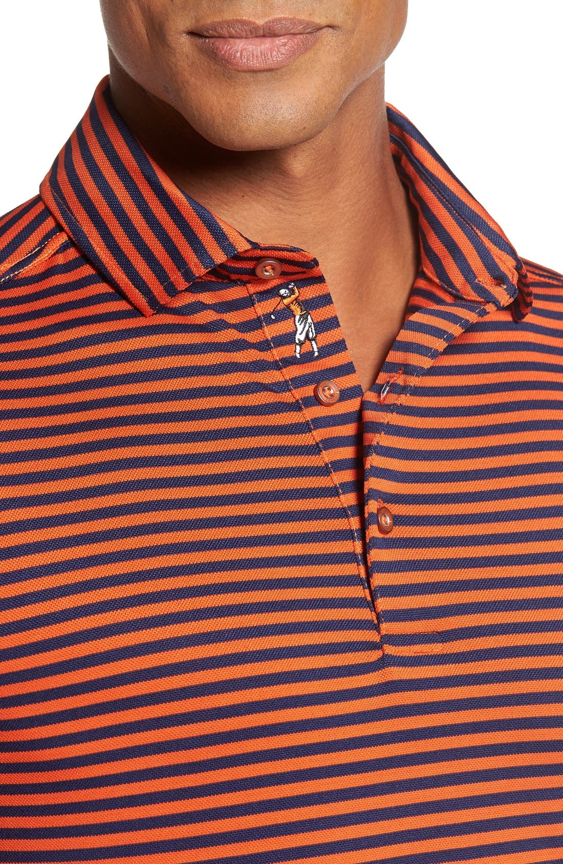 XH2O Feed Stripe Stretch Golf Polo,                             Alternate thumbnail 76, color,