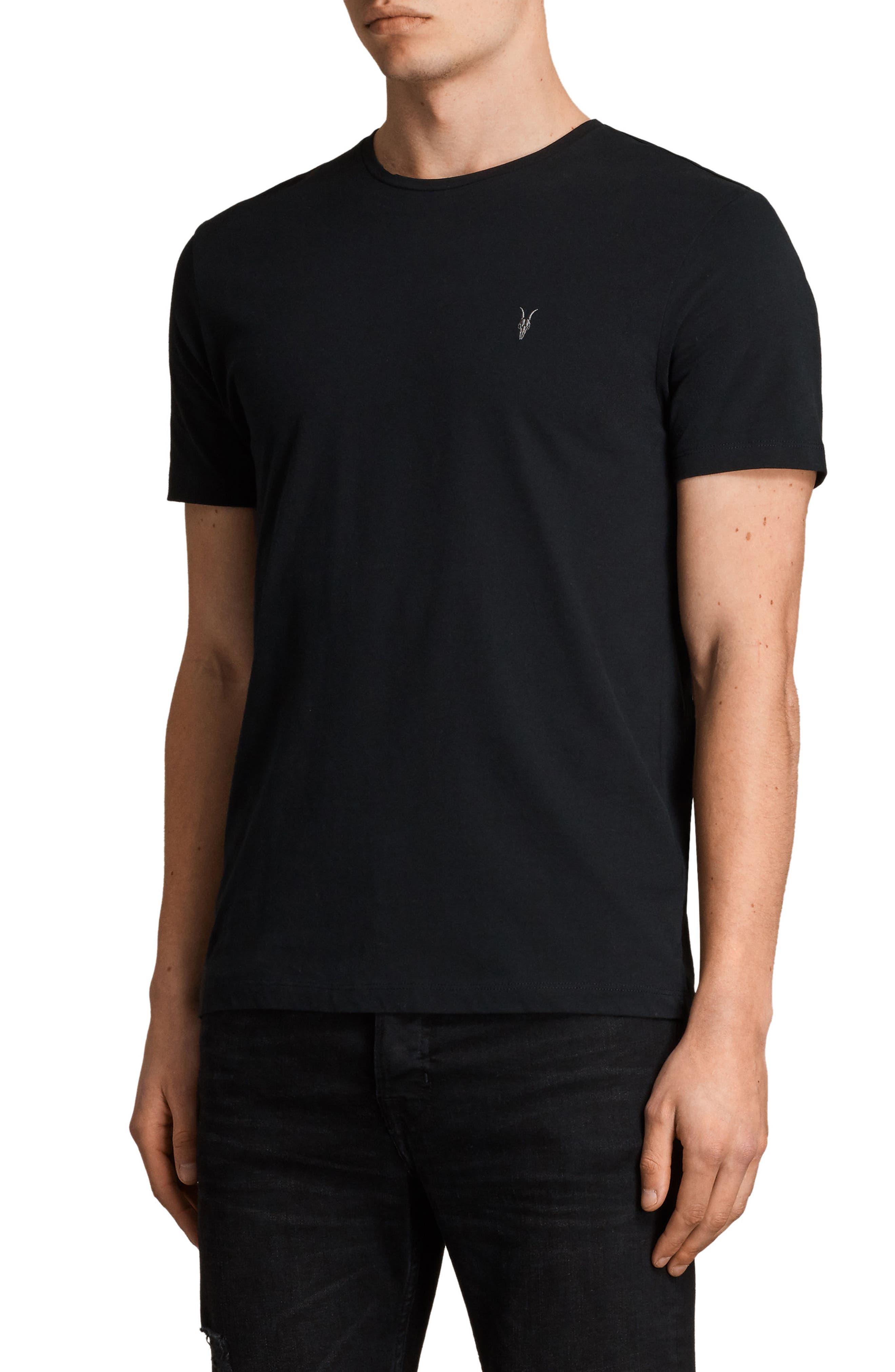 Brace Tonic Slim Fit Crewneck T-Shirt,                             Alternate thumbnail 3, color,                             JET BLACK