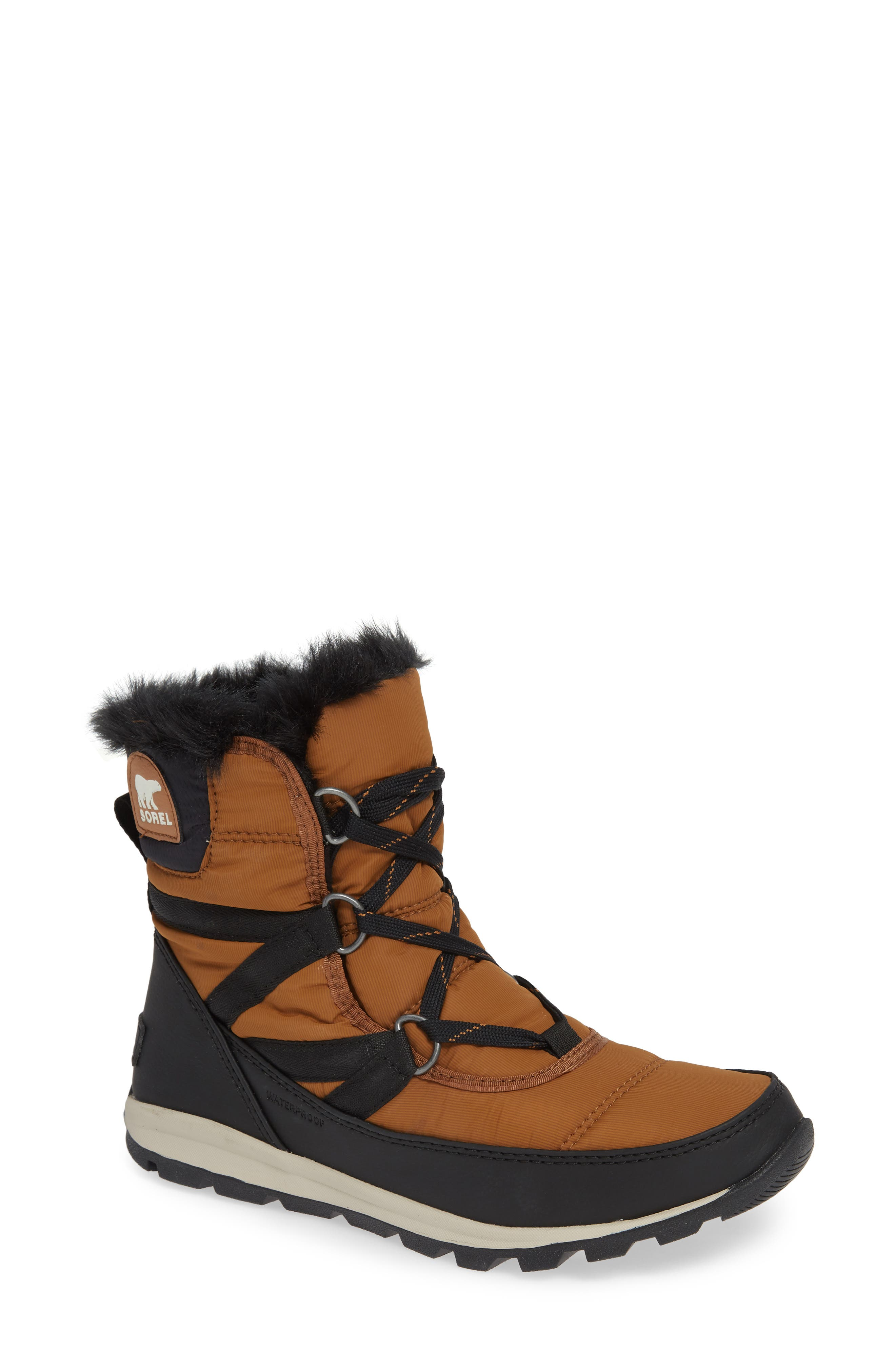 Whitney Snow Bootie,                             Main thumbnail 1, color,                             CAMEL BROWN
