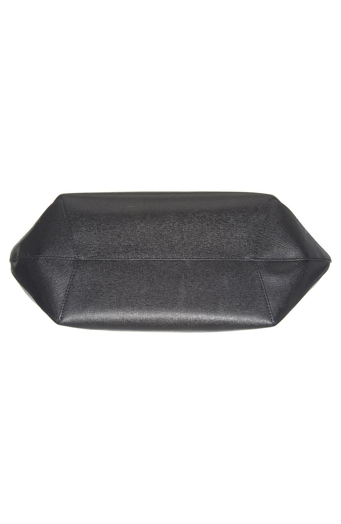'Alissa - Large' Saffiano Leather Tote,                             Alternate thumbnail 3, color,                             001