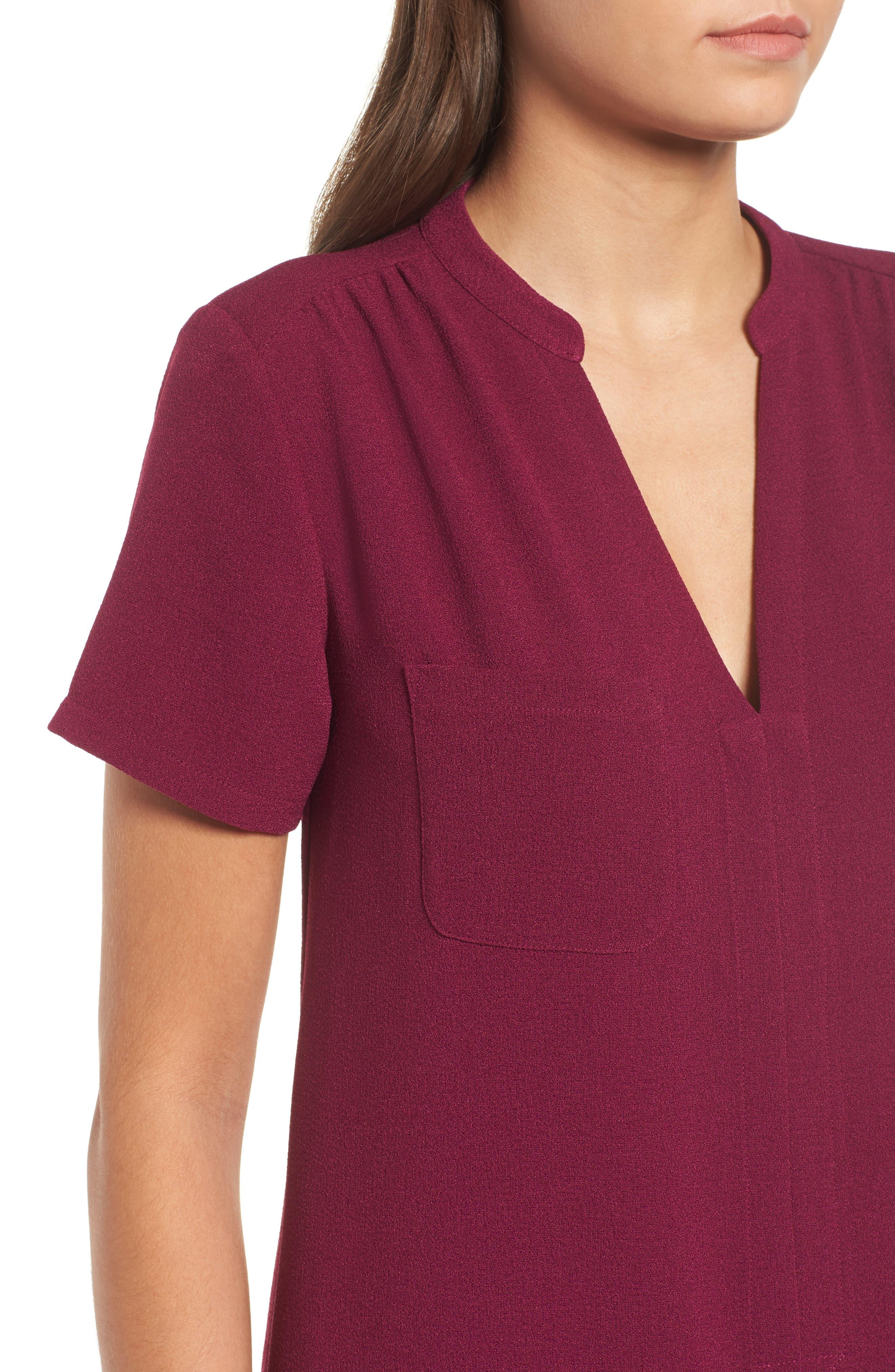 Hailey Crepe Dress,                             Alternate thumbnail 101, color,