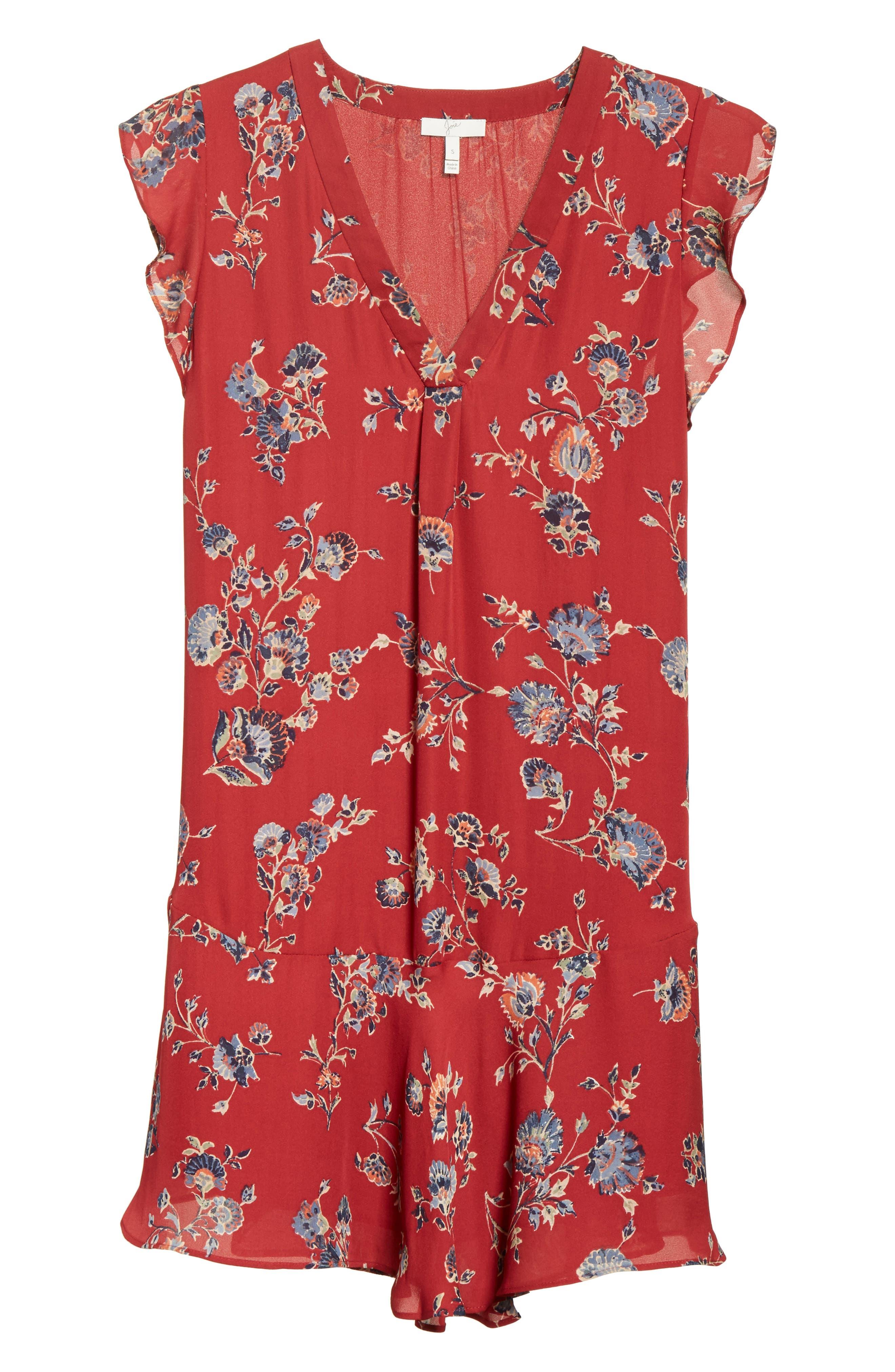 Almarie Floral Silk Mindress,                             Alternate thumbnail 6, color,                             642