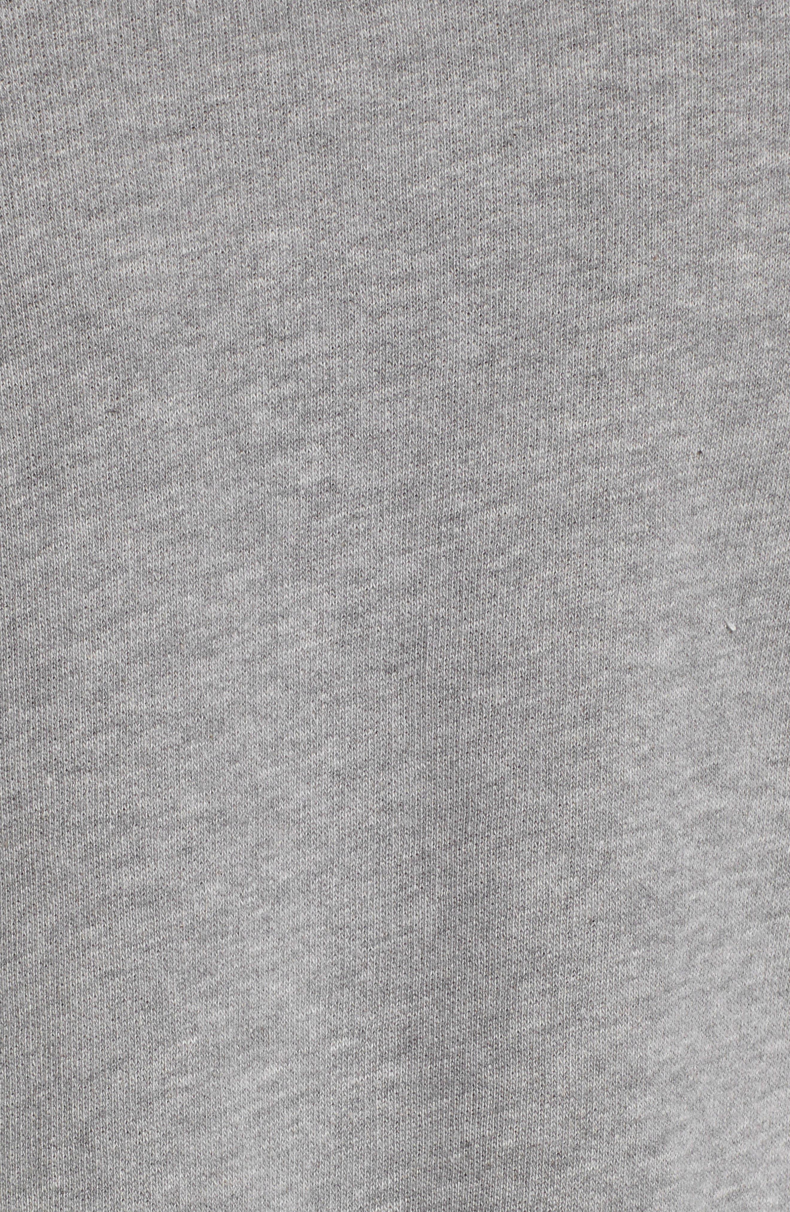 Asymmetric Ruffle Sweatshirt,                             Alternate thumbnail 5, color,