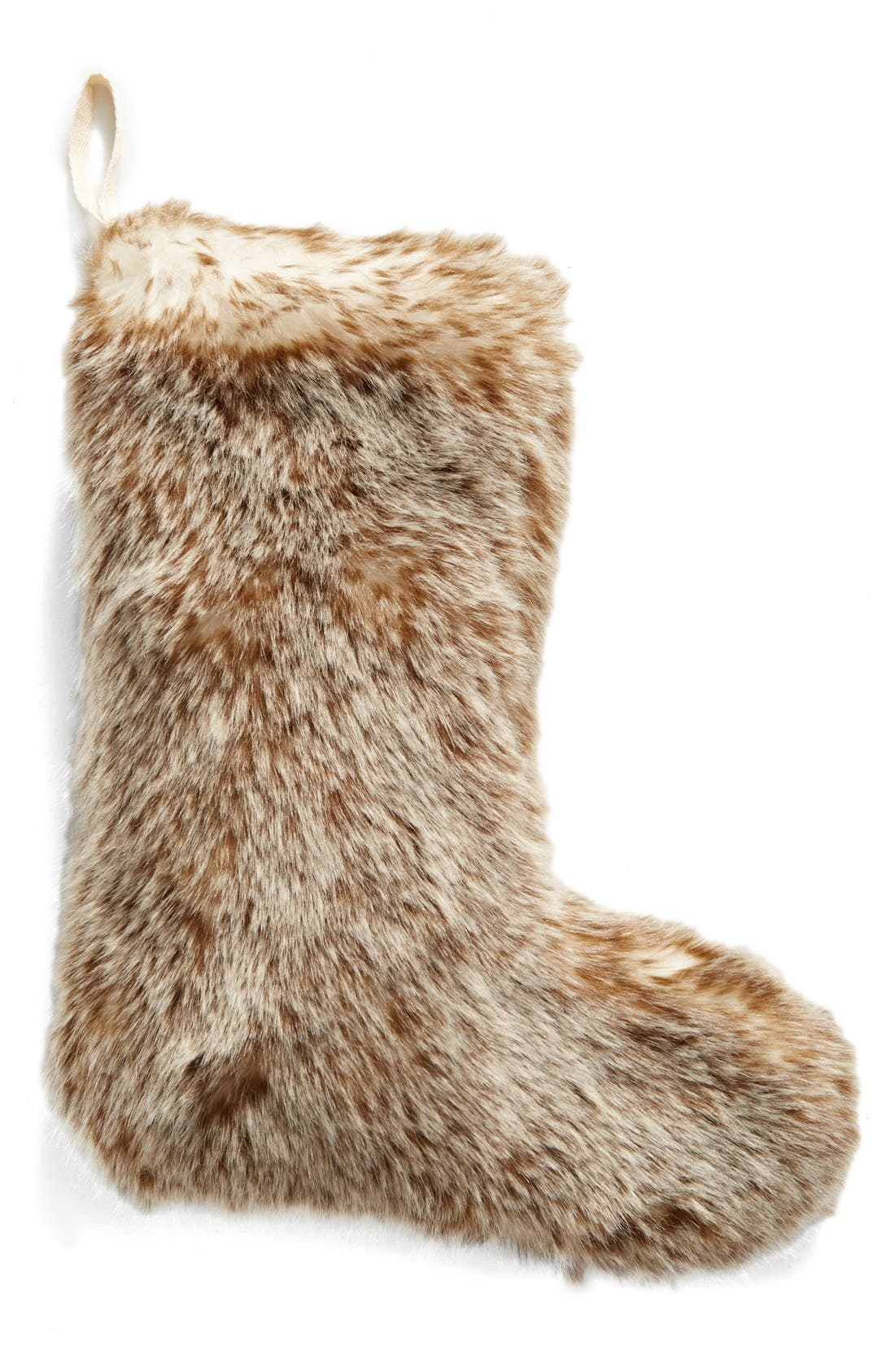 'Cuddle Up' Faux Fur Christmas Stocking,                             Main thumbnail 4, color,