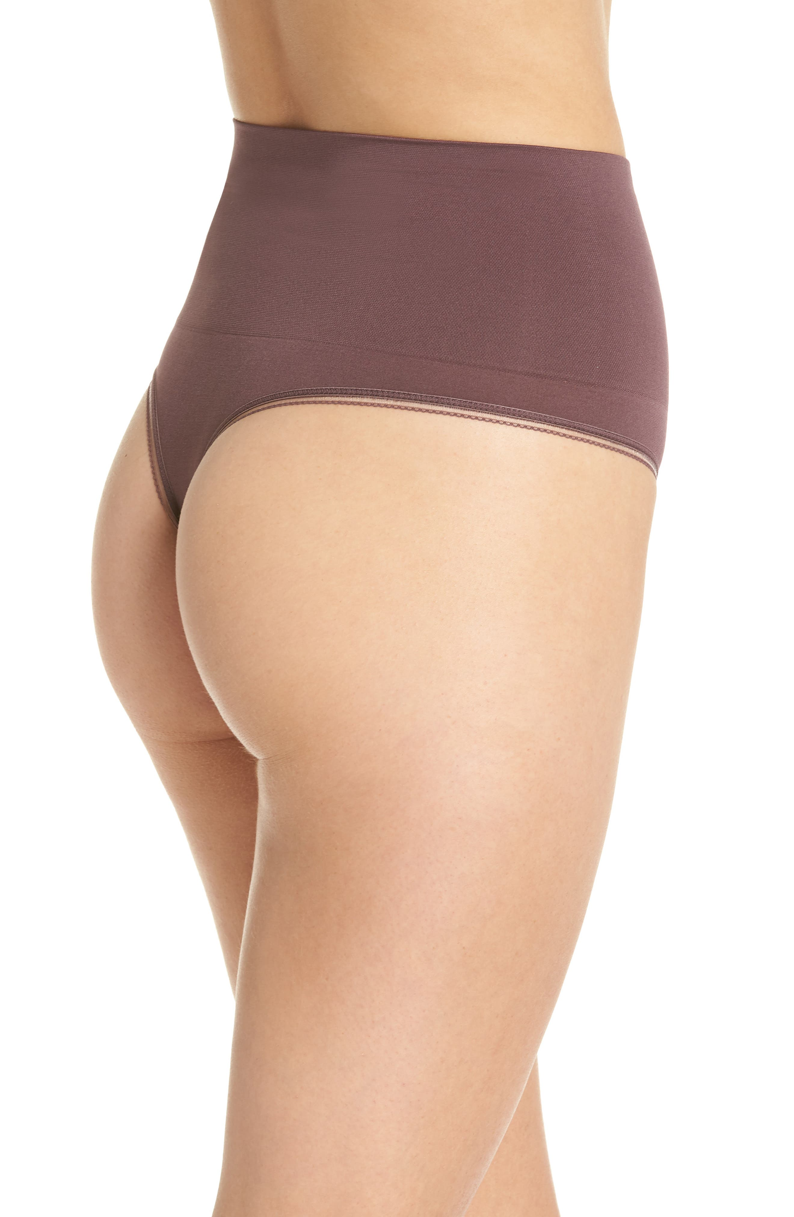 Ultralight Seamless Shaping Thong,                             Alternate thumbnail 2, color,                             HUCKLEBERRY