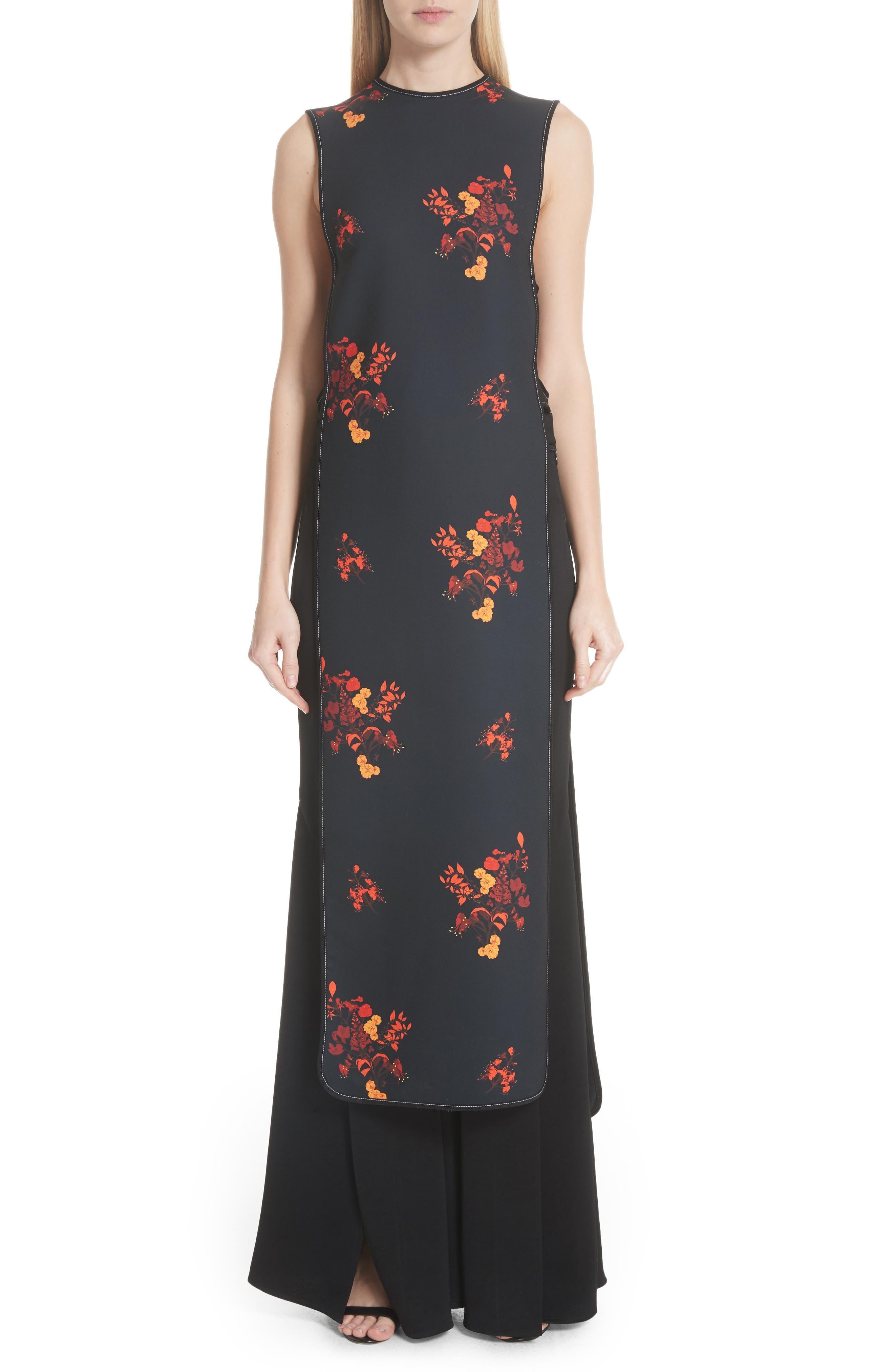 Judy Sleeveless Crepe Tunic Dress,                             Main thumbnail 1, color,                             800