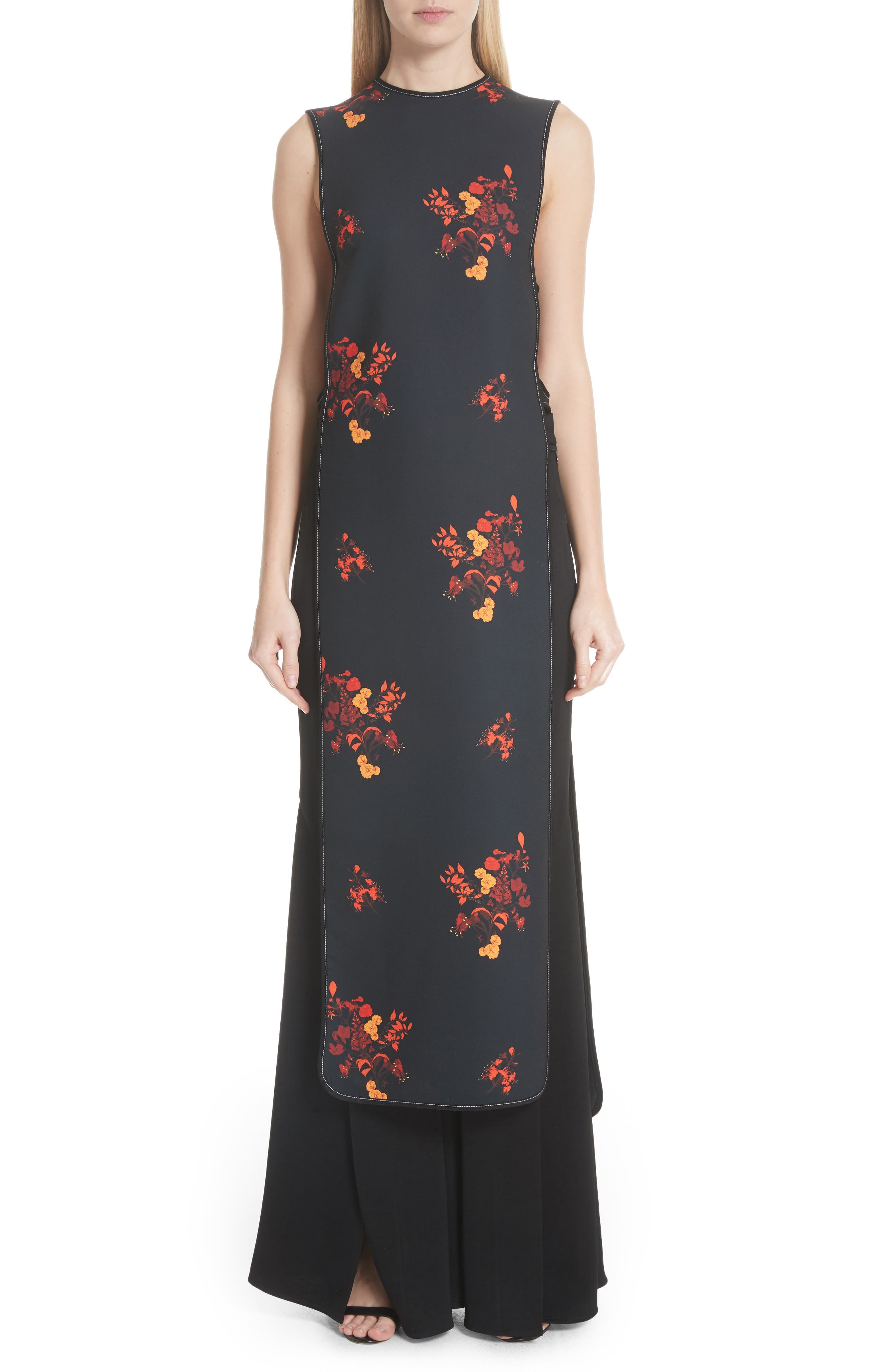 Judy Sleeveless Crepe Tunic Dress,                         Main,                         color, 800