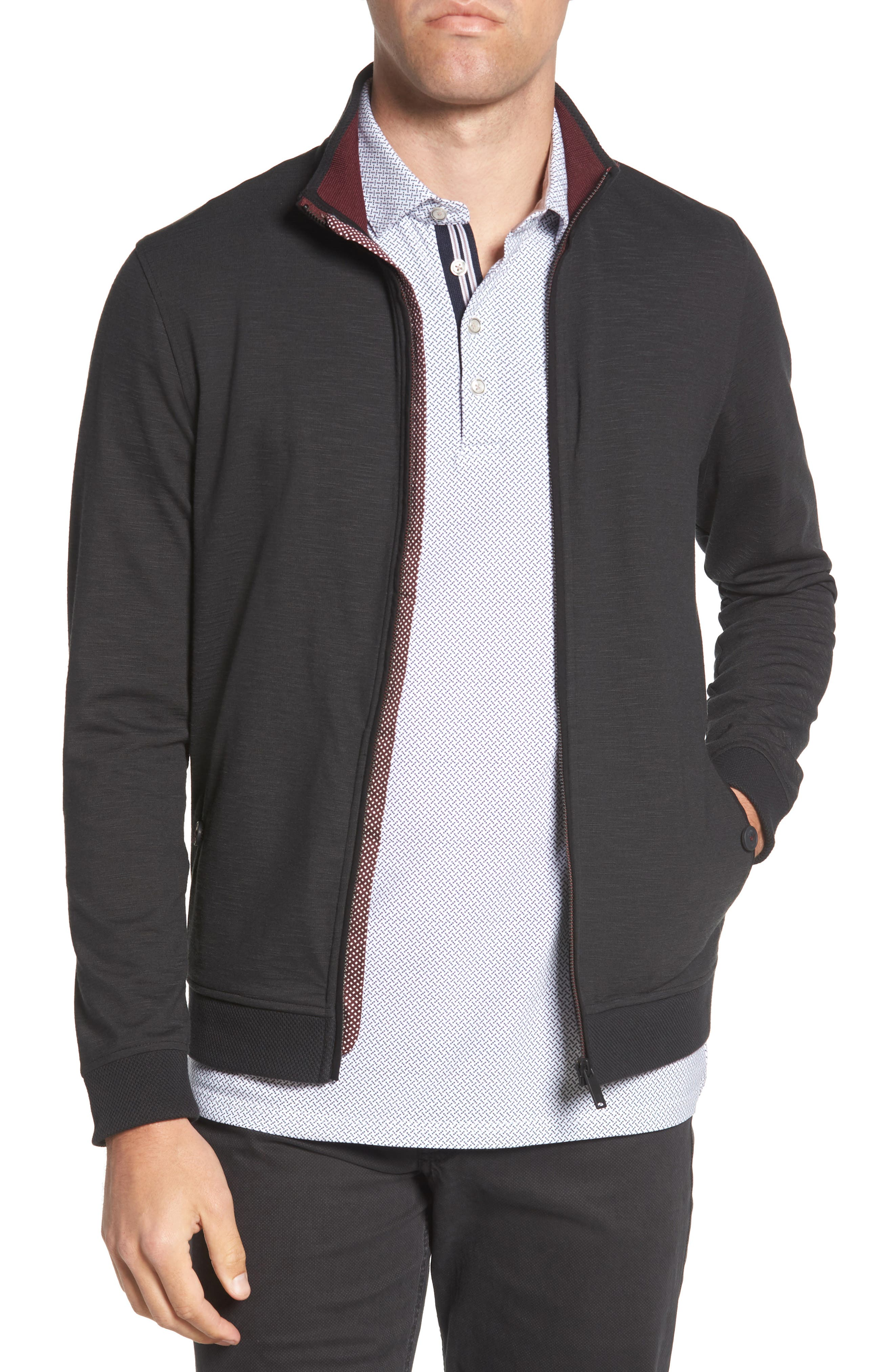 Jam Trim Fit Jacket,                         Main,                         color, 001