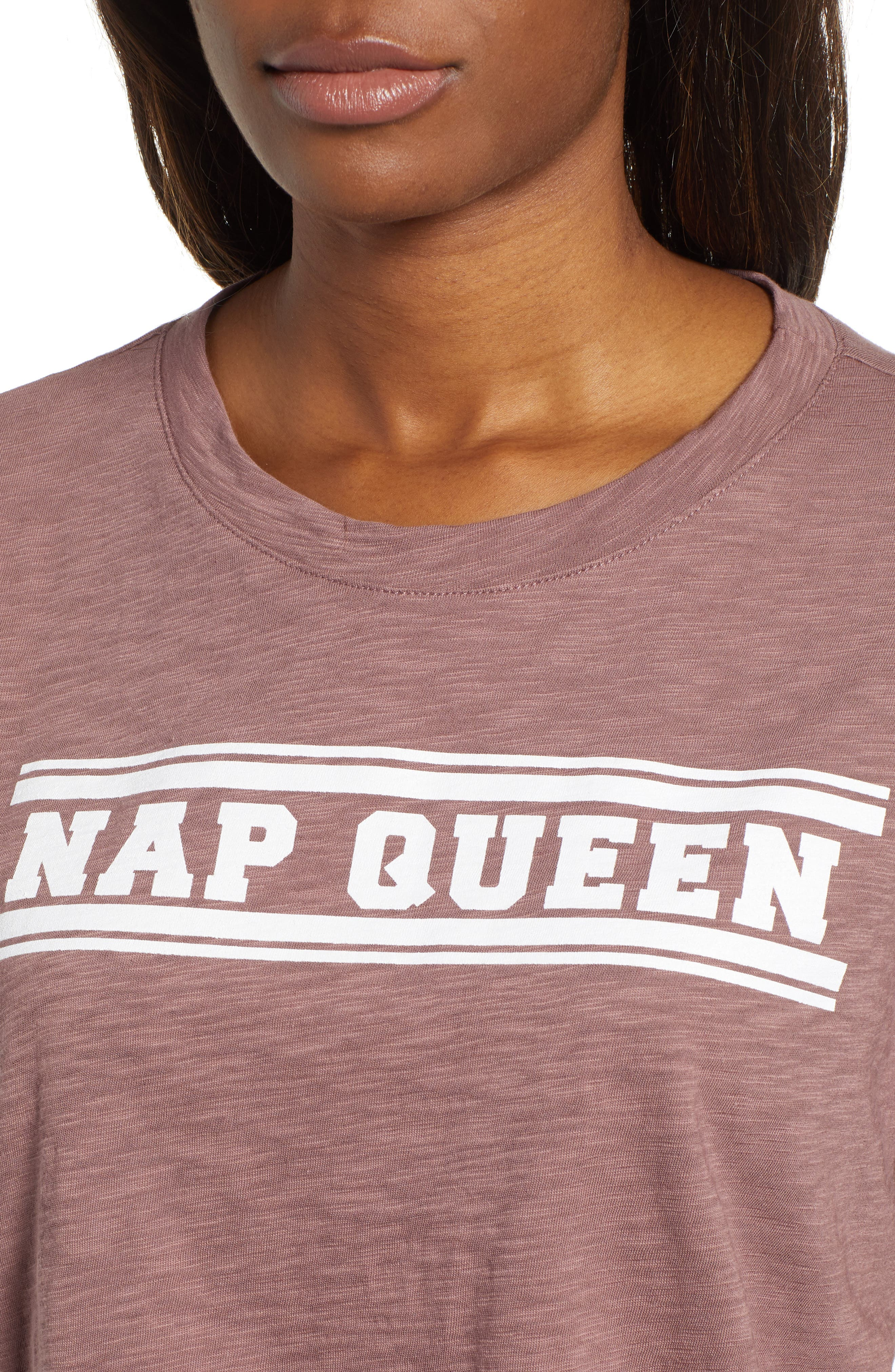 Off Duty Graphic Tee,                             Alternate thumbnail 4, color,                             PURPLE TAUPE