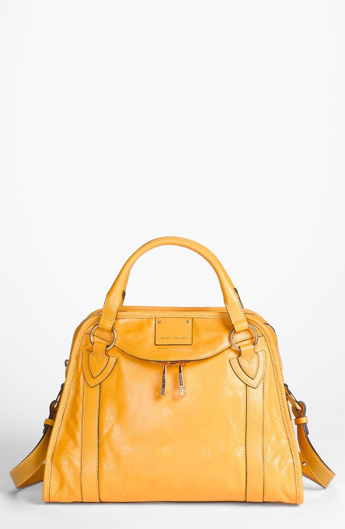 'Classic Wellington' Leather Satchel,                             Main thumbnail 11, color,