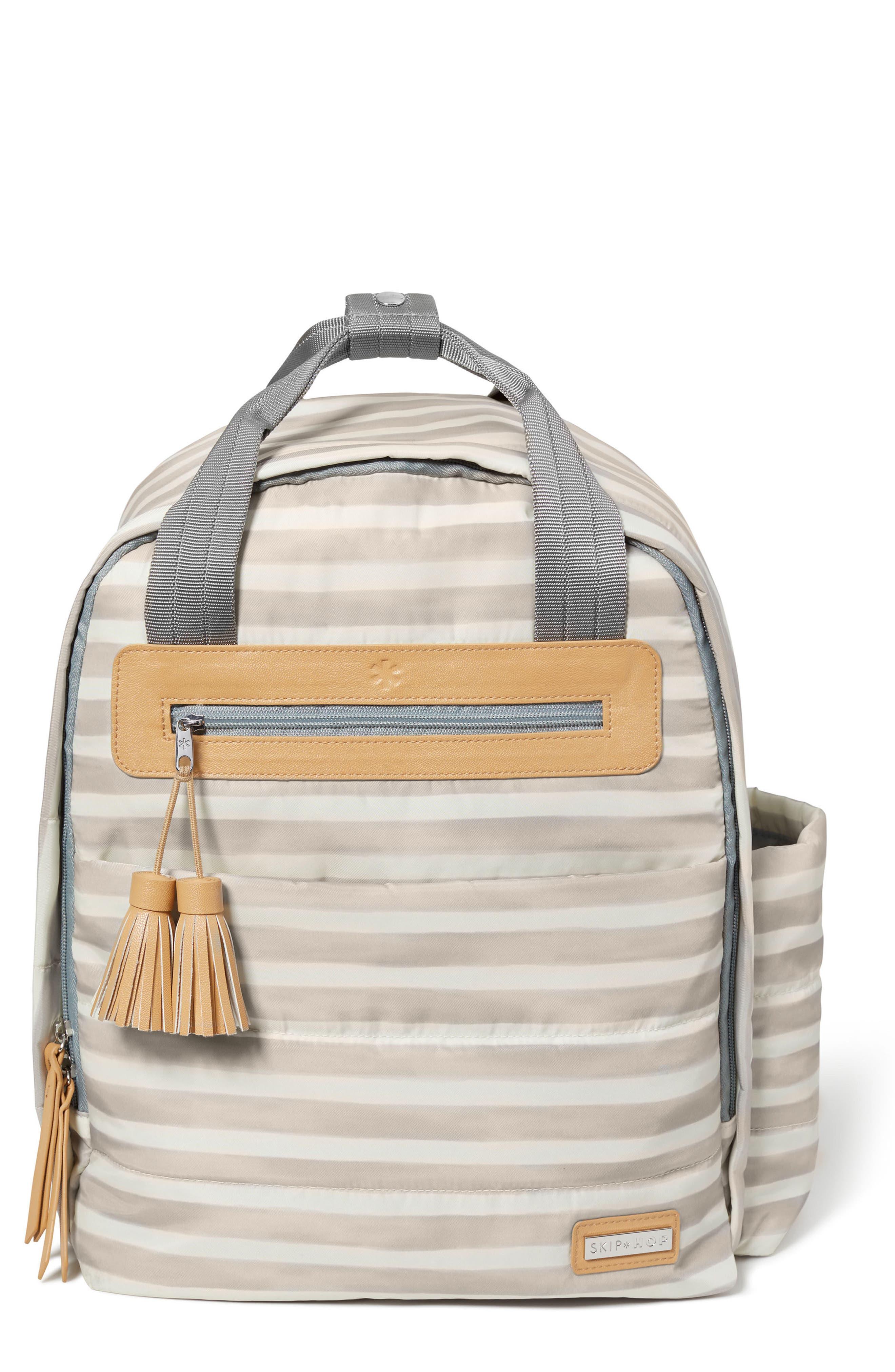 Infant Skip Hop Riverside Diaper Backpack  Ivory