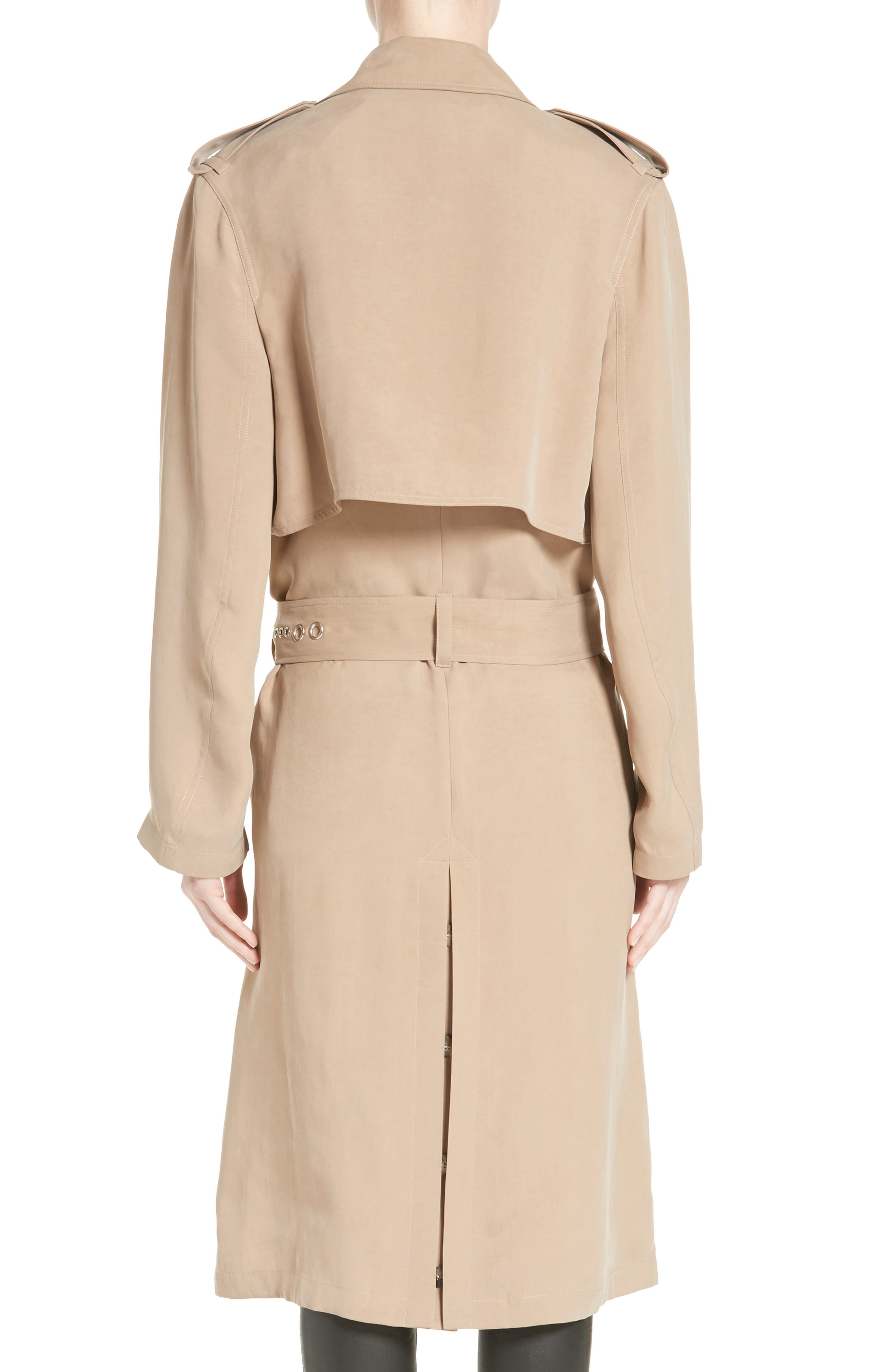 Pierced Trench Coat,                             Alternate thumbnail 2, color,                             200
