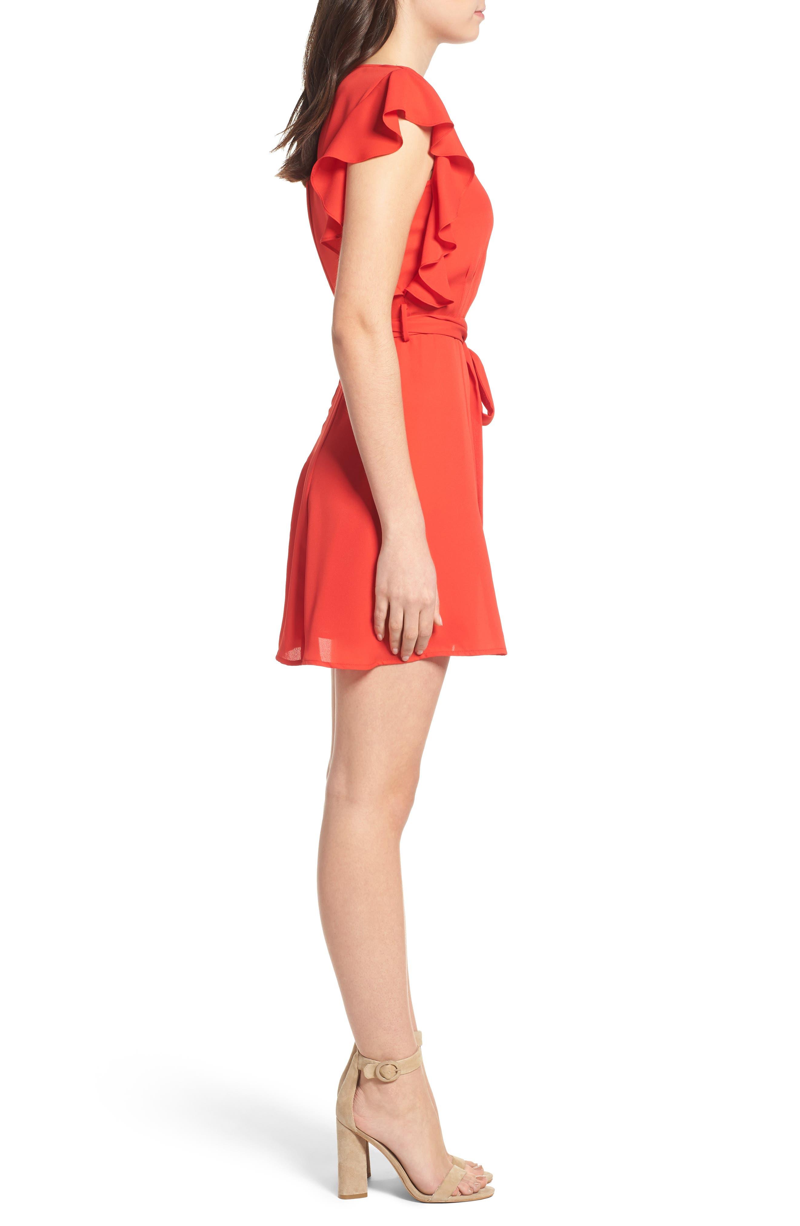 Ruffle Sleeve Dress,                             Alternate thumbnail 7, color,