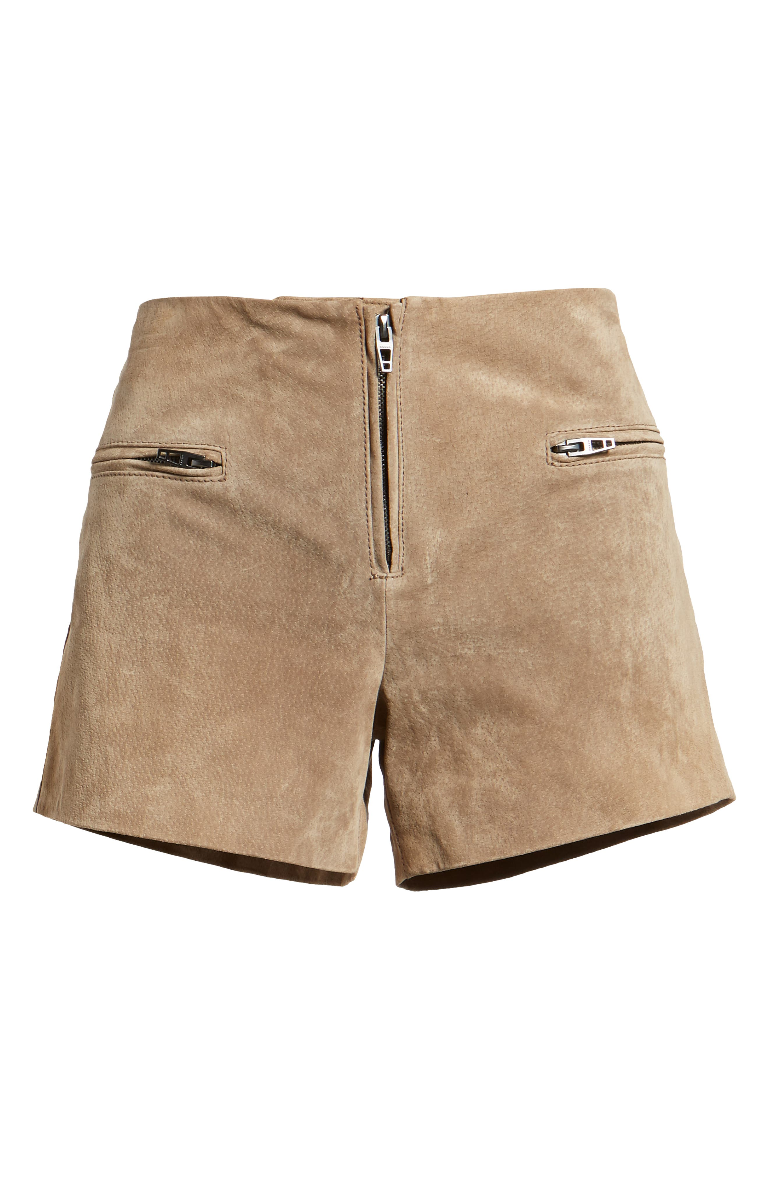 Suede Shorts,                             Alternate thumbnail 6, color,                             MIDNIGHT TOKER