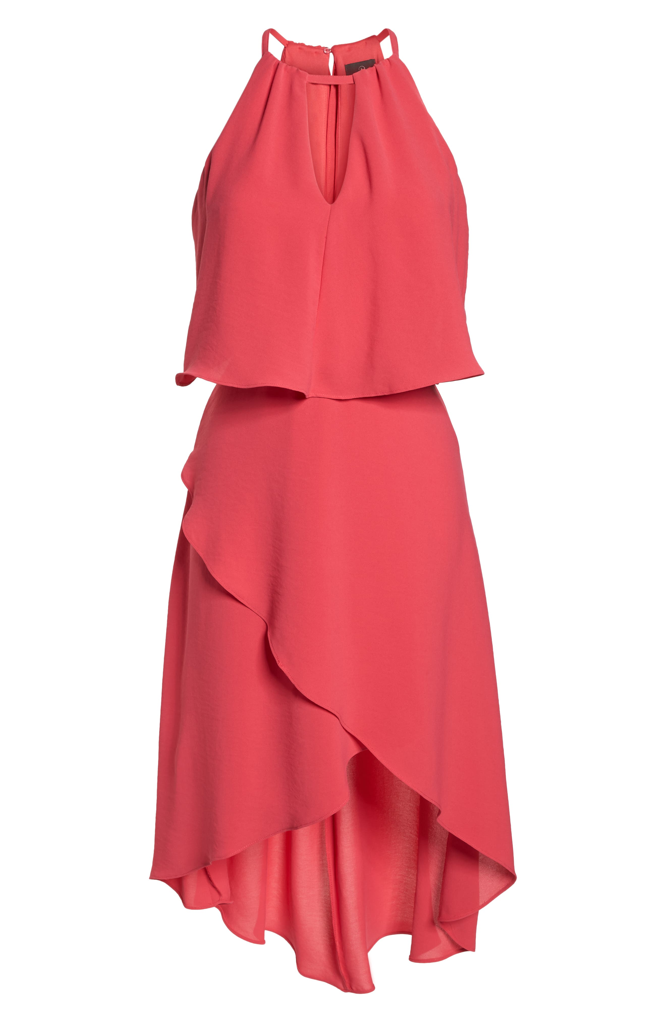 Crepe Popover High/Low Dress,                             Alternate thumbnail 7, color,                             654