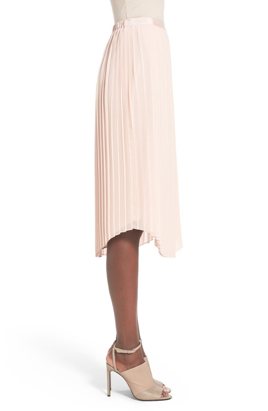 CHELSEA28,                             Pleated Midi Skirt,                             Alternate thumbnail 2, color,                             680