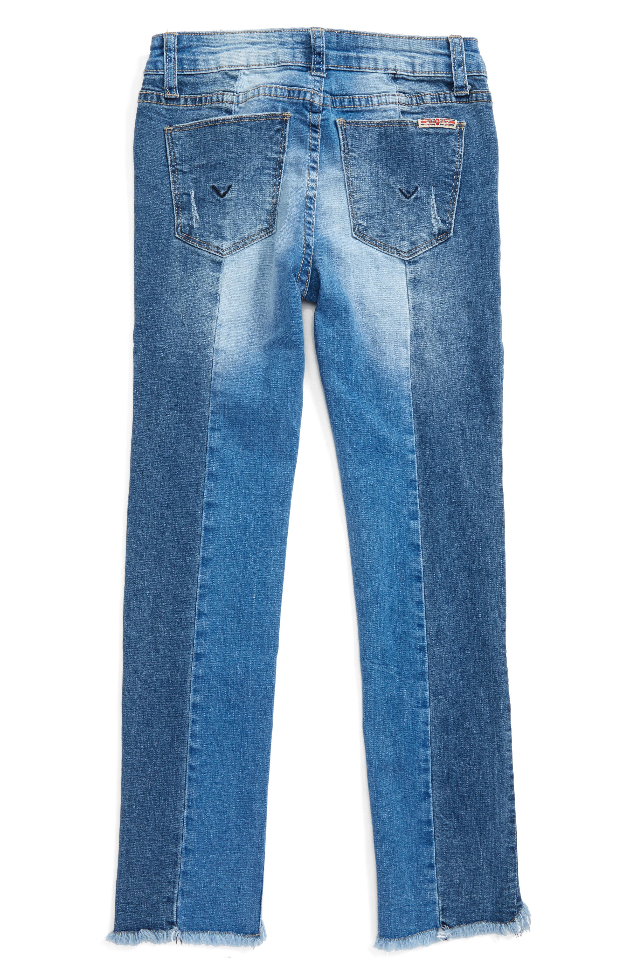 Redone Crop Skinny Jeans,                             Alternate thumbnail 2, color,                             483