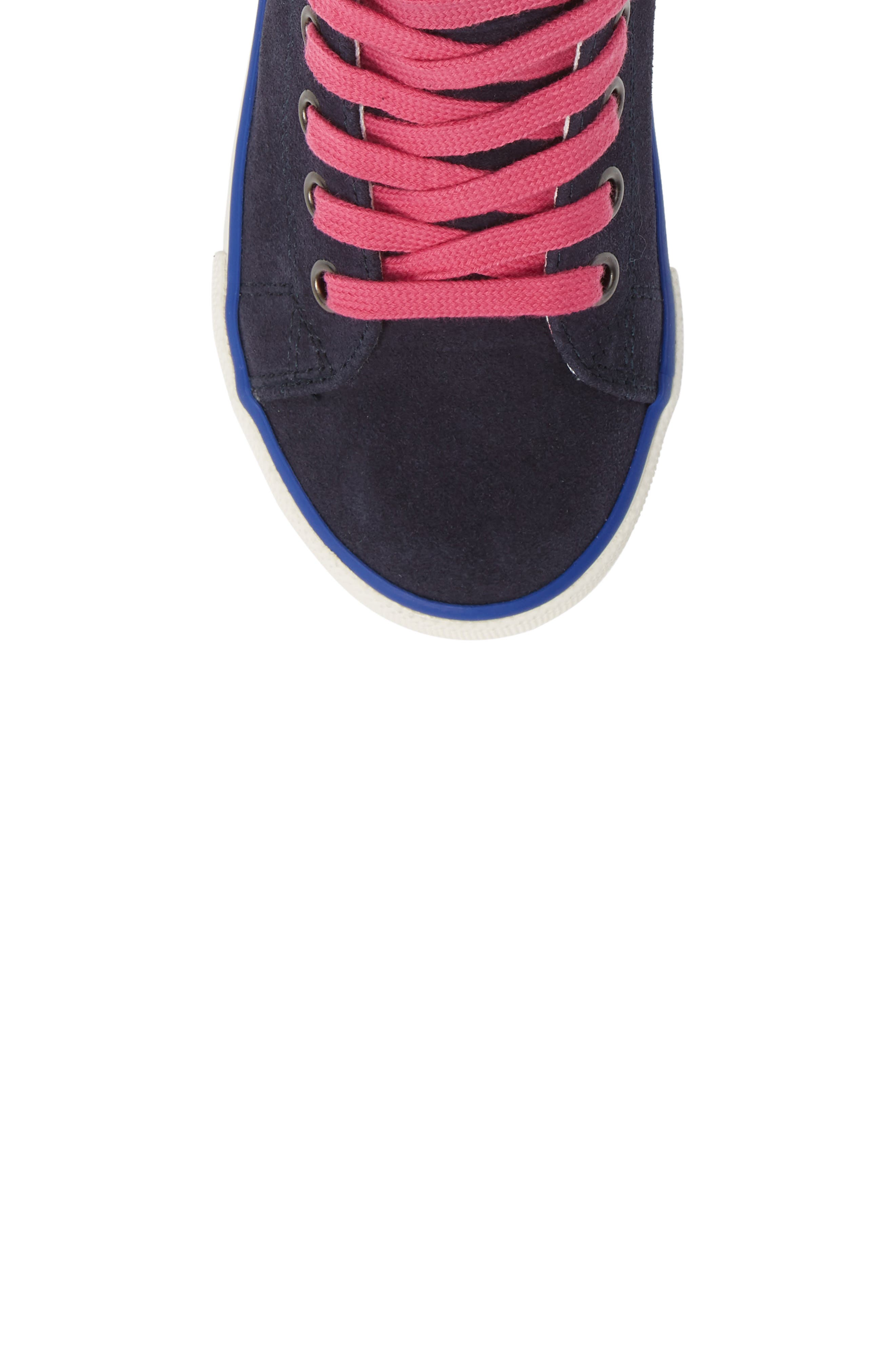 Mini Boden Appliqué High Top Sneaker,                             Alternate thumbnail 5, color,                             SCHOOL NAVY