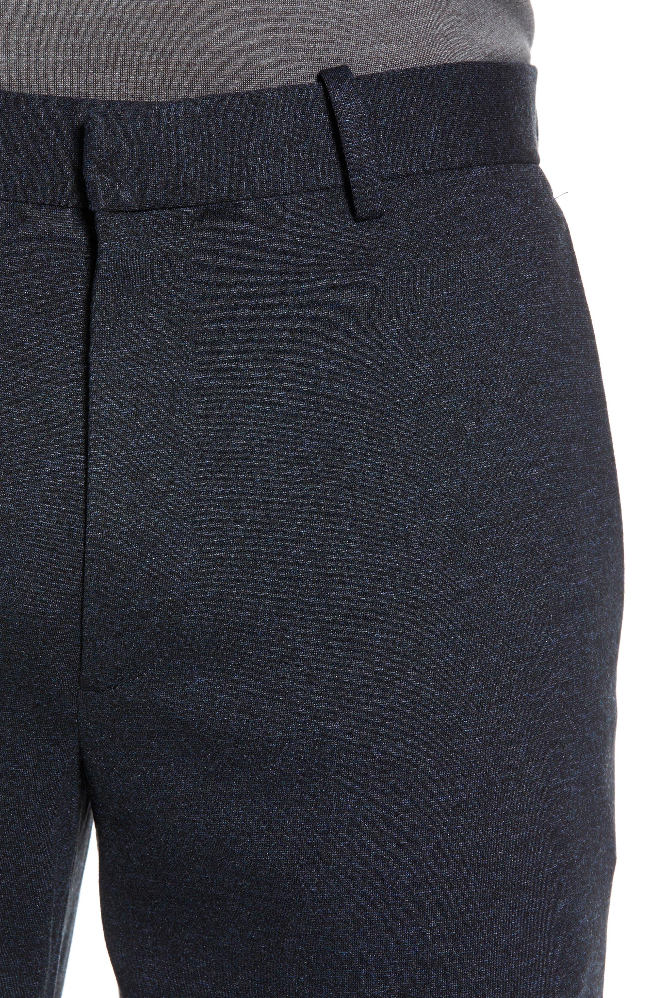Payton Marled Ponte Trousers,                             Alternate thumbnail 4, color,                             ECLIPSE MELANGE