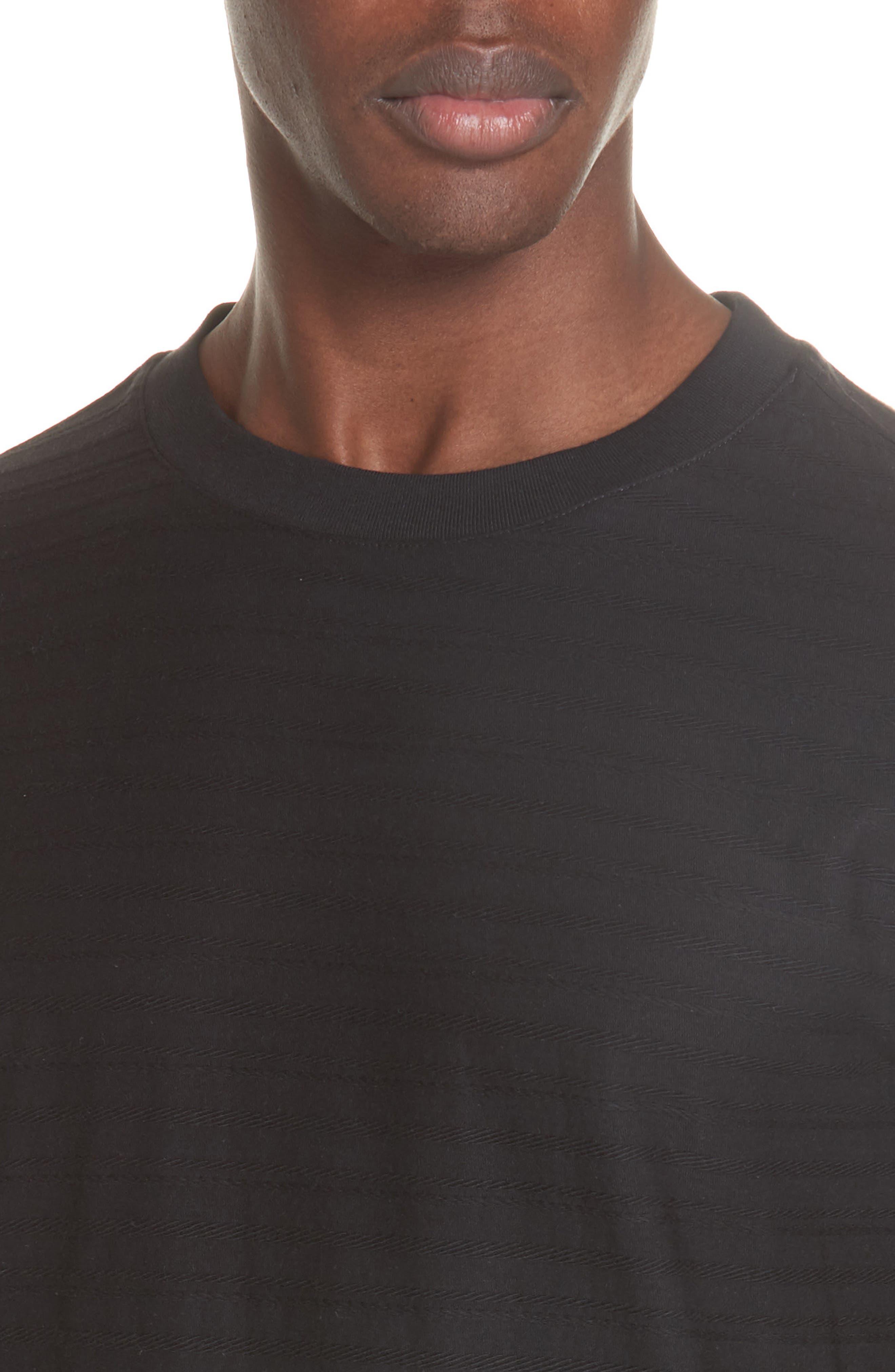 Jacquard Stripe Long Sleeve T-Shirt,                             Alternate thumbnail 4, color,                             062