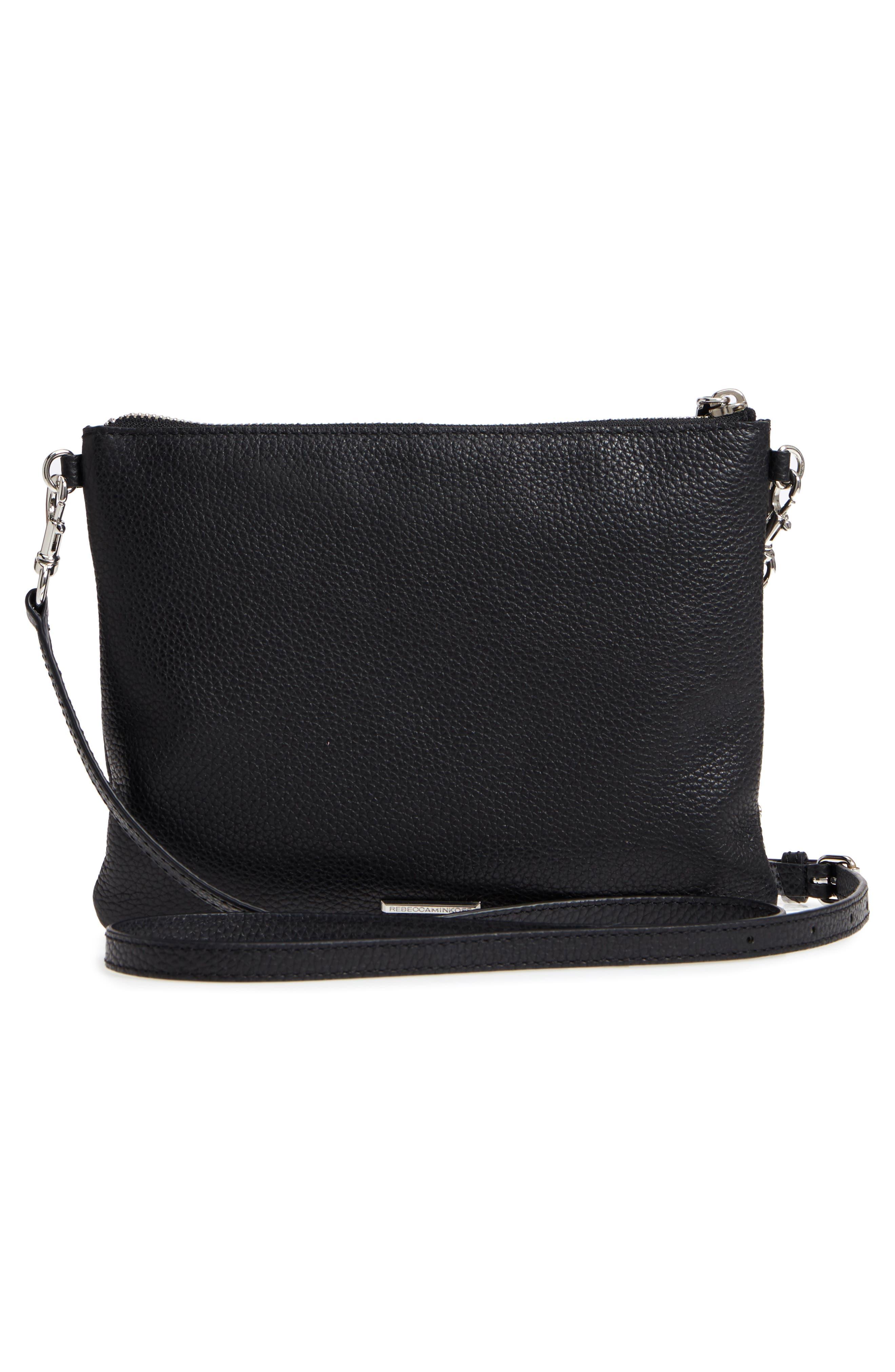 Jon Studded Leather Crossbody Bag,                             Alternate thumbnail 3, color,                             001