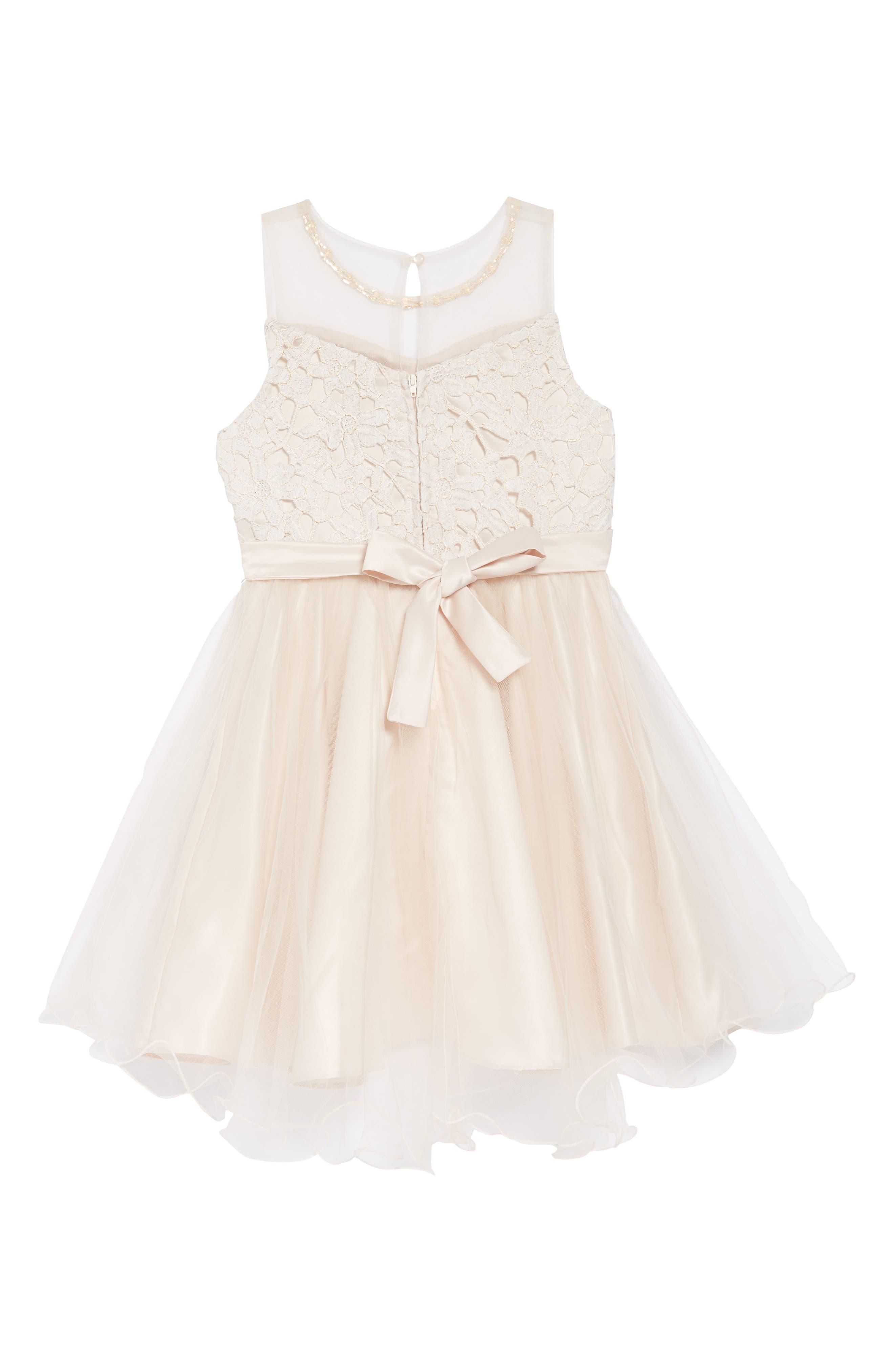 Lace Bodice Tulle Dress,                             Alternate thumbnail 2, color,                             113
